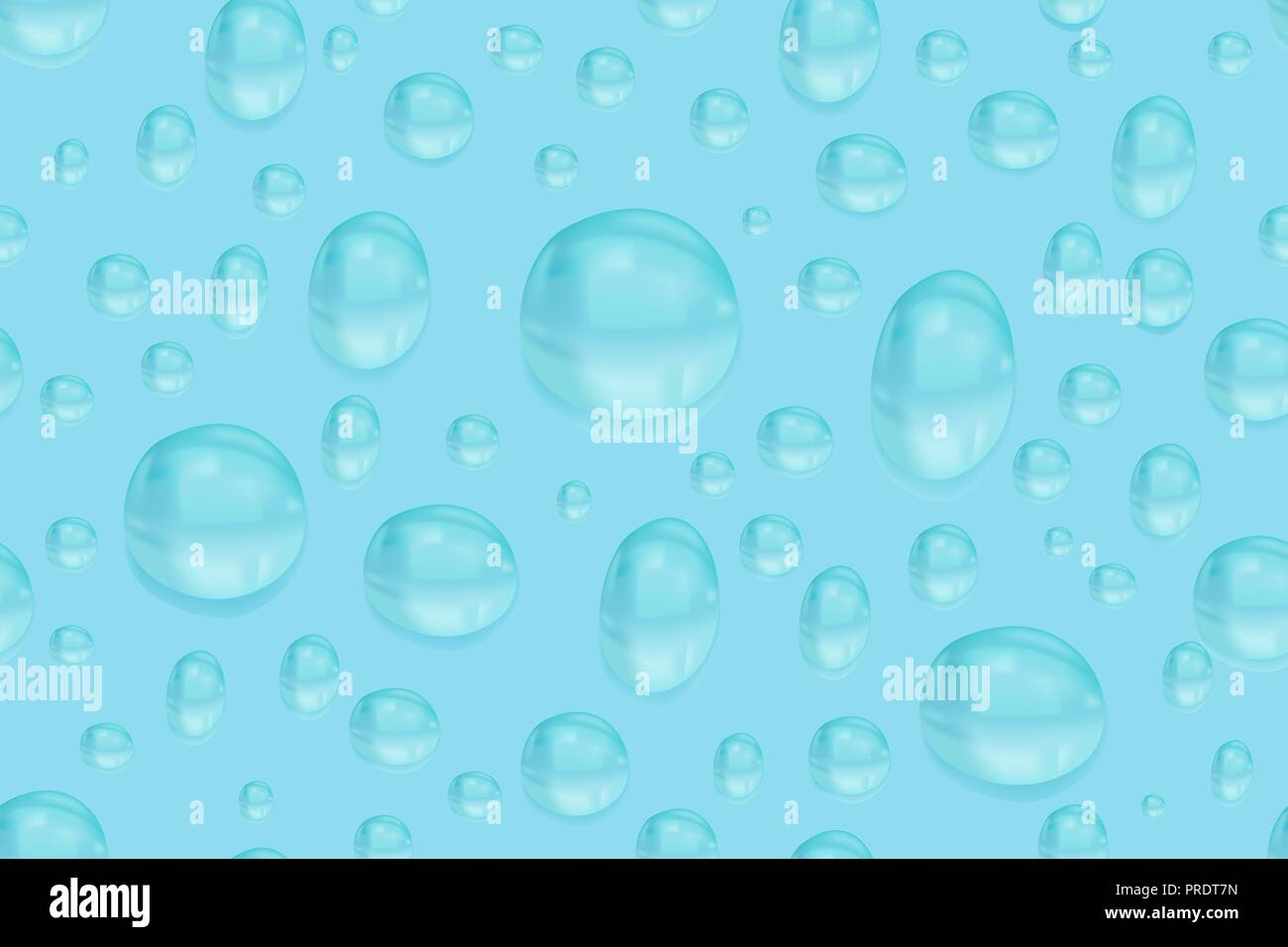 Water background with rain drops. Seamless pattern - Stock Image