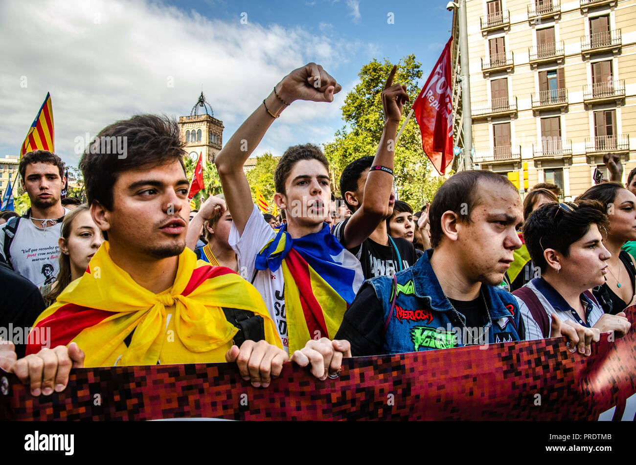 Barcelona, Catalonia, Spain  1st Oct, 2018  A pro
