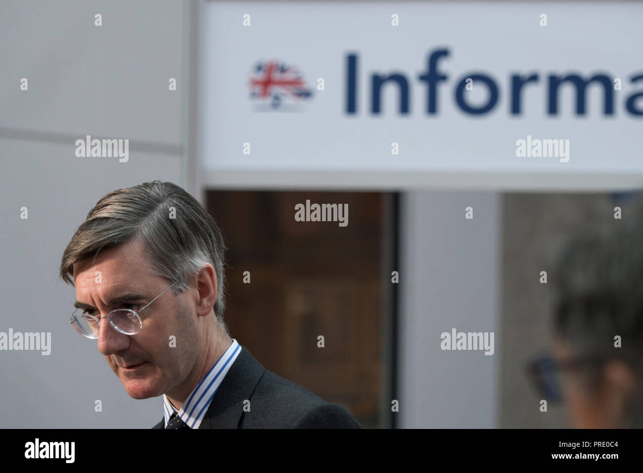 Birmingham, UK. 1st October, 2018. Jacob Rees-Mogg at Conservative Party Conference 2018 Credit: Benjamin Wareing/Alamy Live News - Stock Image