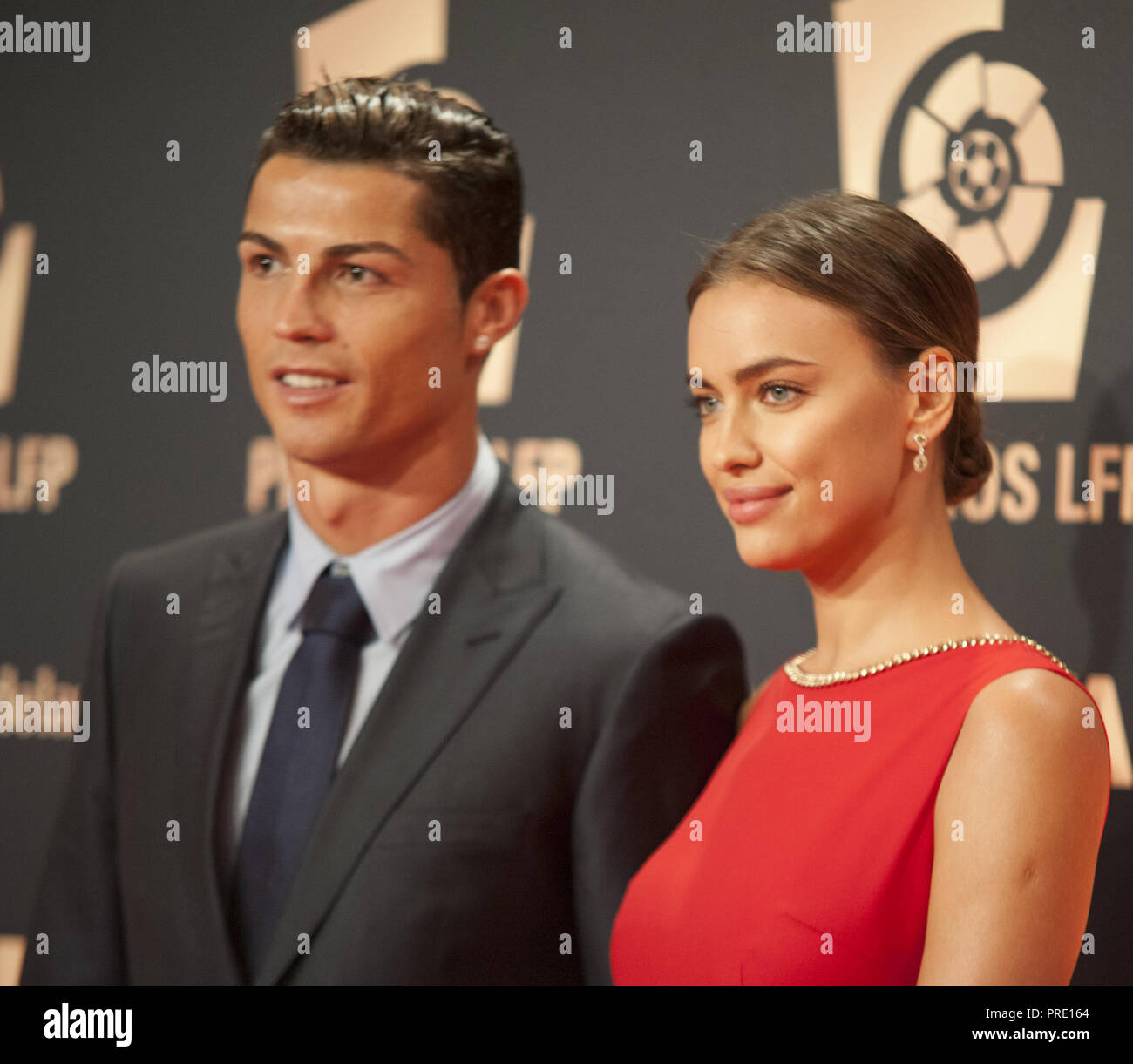 MADRID, SPAIN - OCTOBER 27: Cristiano Ronaldo and Irina Shayk attends the  LFP (Professional Football League) Awards Gala 2014 on October 27, 2014 in  Madrid, Spain. People: Cristiano Ronaldo and Irina Shayk Stock Photo - Alamy