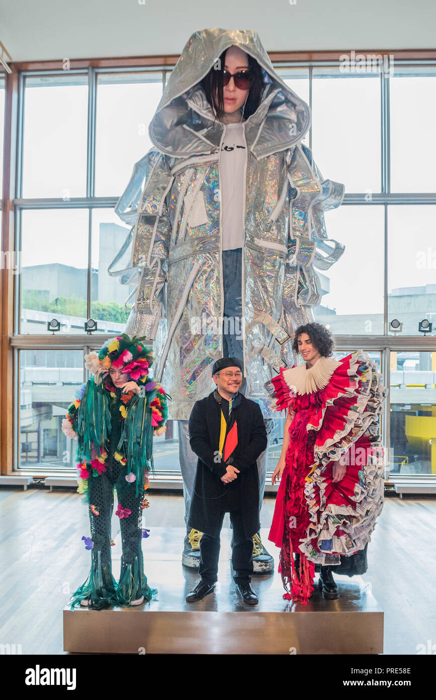 London Uk 2nd Oct 2018 Tim Yip And Models In Garden And Magazine Lili A Large Scale Art Installation Which Is Part Of Bafta And Academy Award Winner Art Director Tim