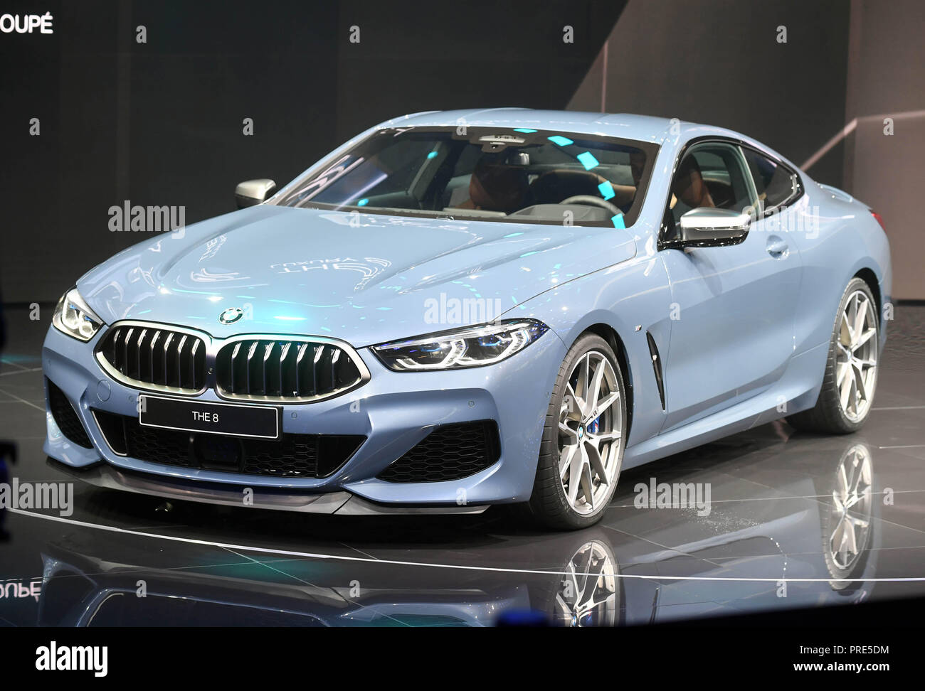 paris france 02nd oct 2018 the bmw 8 series coupe will be presented at the paris. Black Bedroom Furniture Sets. Home Design Ideas