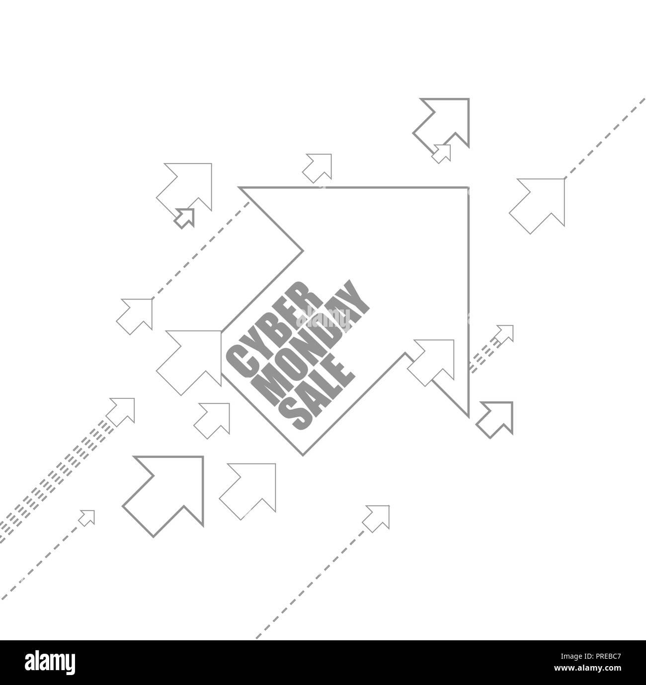 1865e438066 Cyber Monday Sale multiple arrows following a leader concept ...
