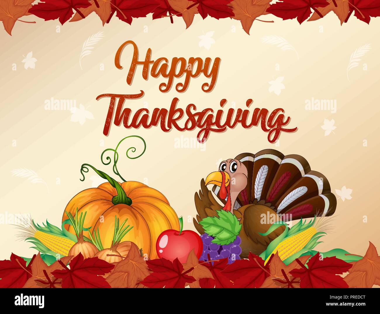 happy thanksgiving card template illustration stock vector art