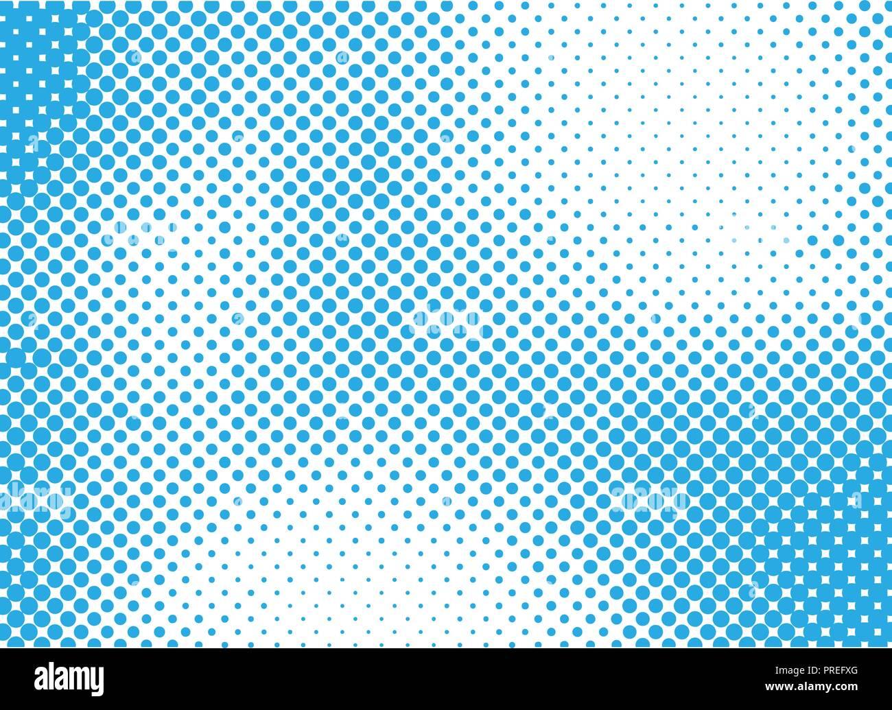 Blue halftone background for design. Vector illustration. - Stock Image
