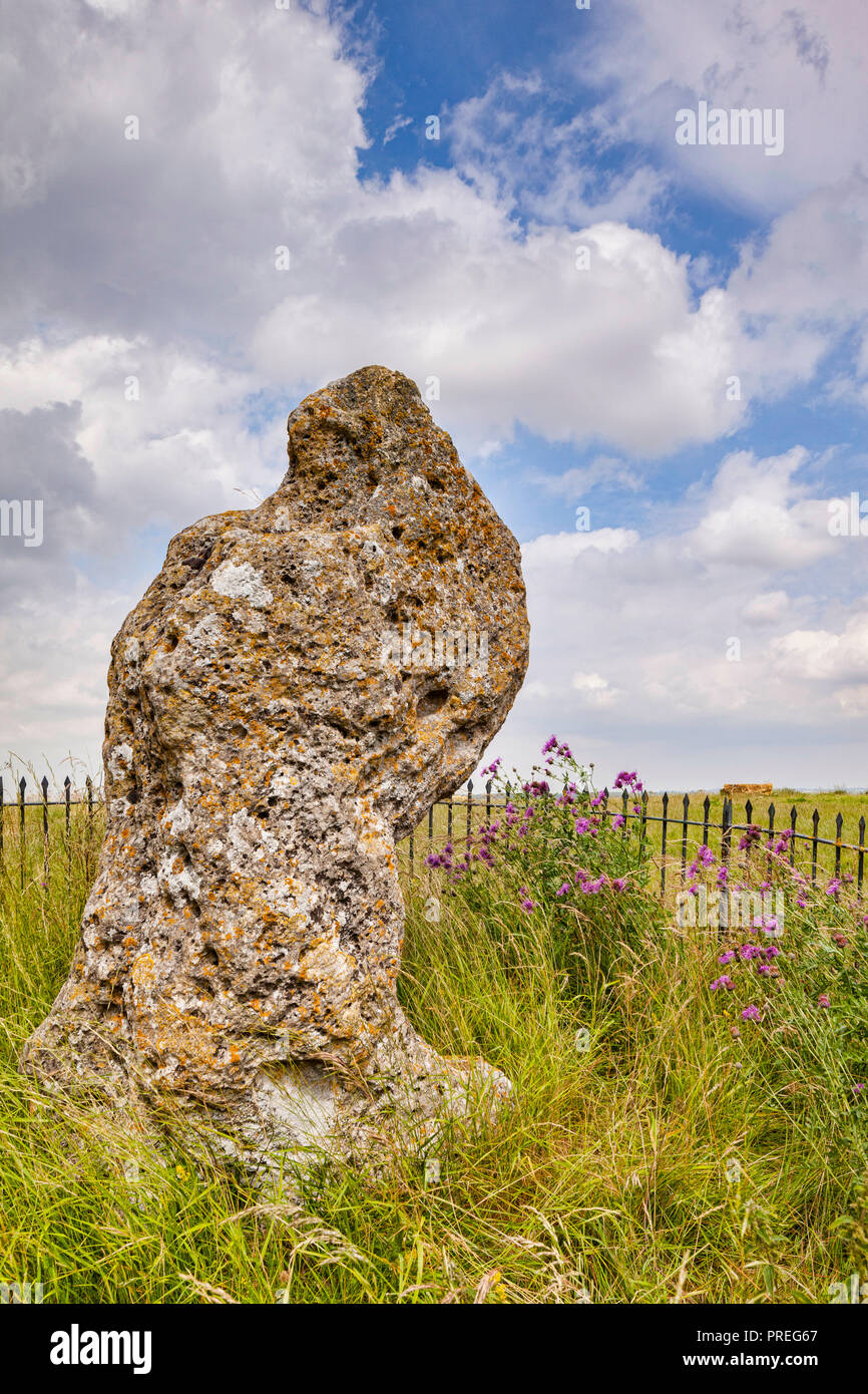 The King Stone is associated with the Rollright Stones or King's Men, a prehistoric stone circle in the Rollrights area of Oxfordshire. Stock Photo