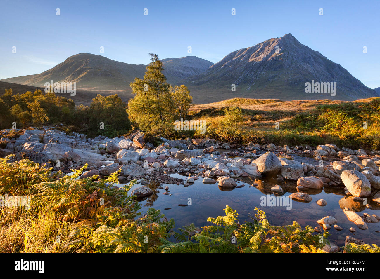 Autumn in Glencoe, Lochaber, Highland, Scotland, UK. Stock Photo