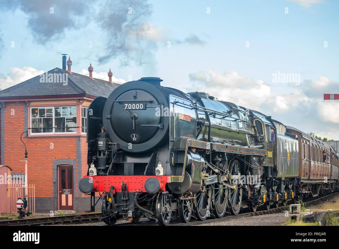 Britannia Steam Locomotive Stock Photos & Britannia Steam