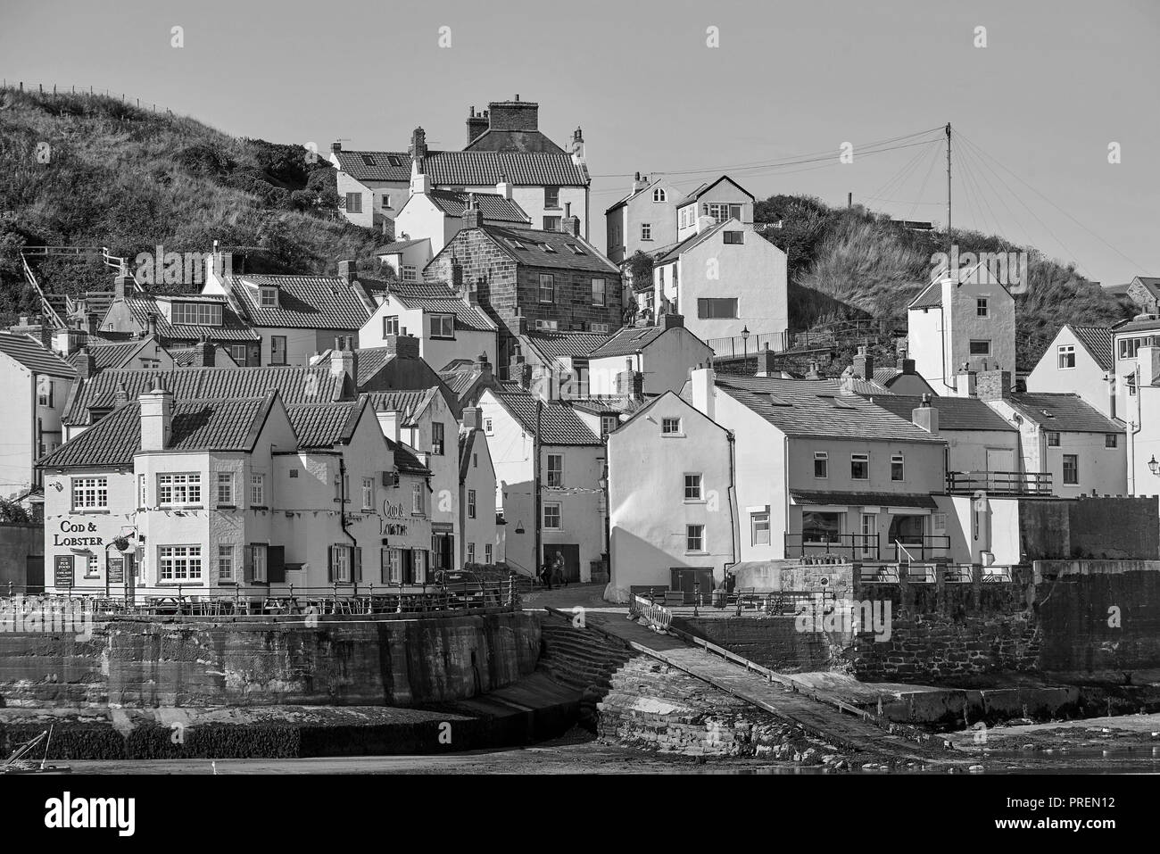 The historic village of Staithies, North Yorkshire coast , North East England, UK - Stock Image