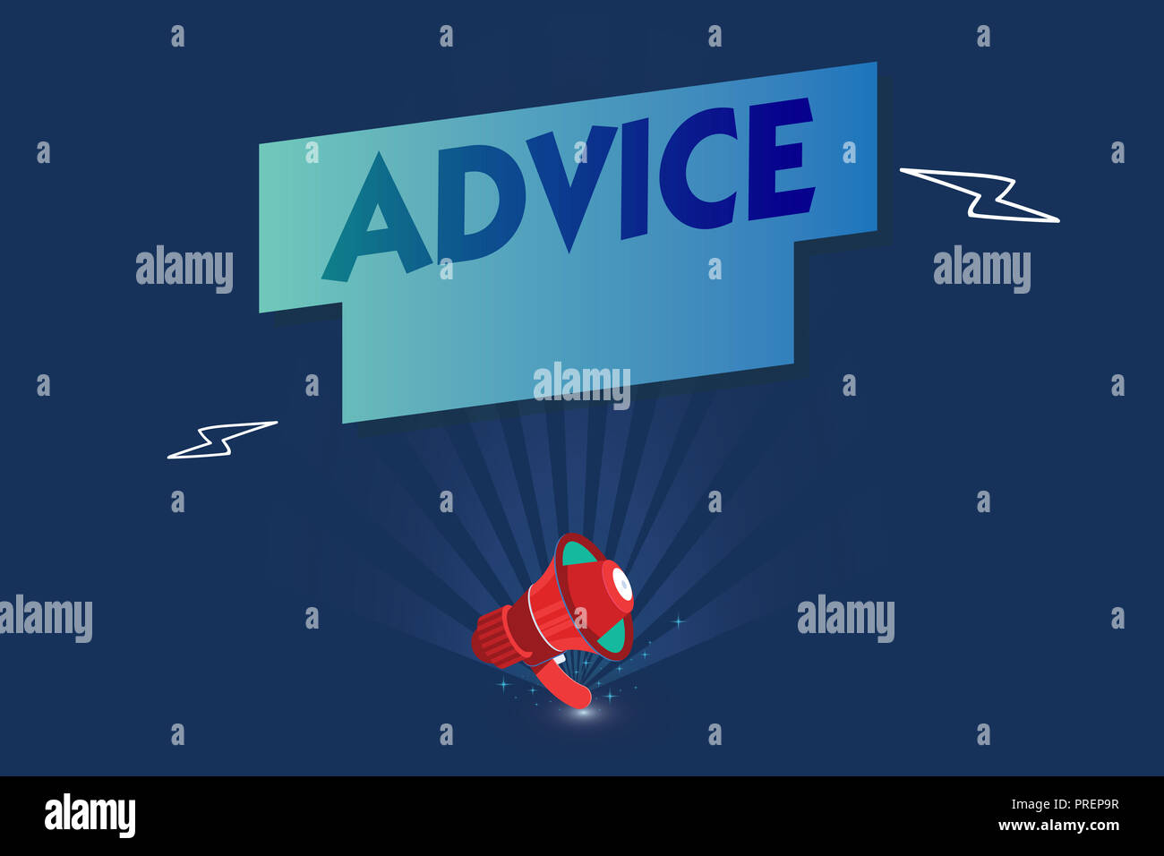 Handwriting text Advice. Concept meaning guidance or recommendations offered with regard prudent action. - Stock Image