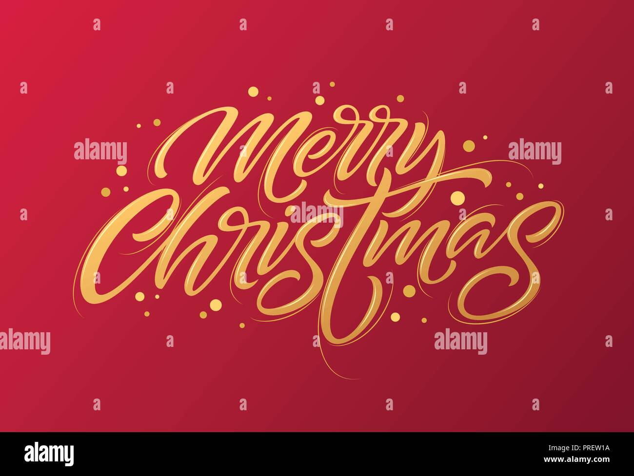 golden text on dark red background merry christmas and happy new year lettering for invitation and greeting card prints and posters