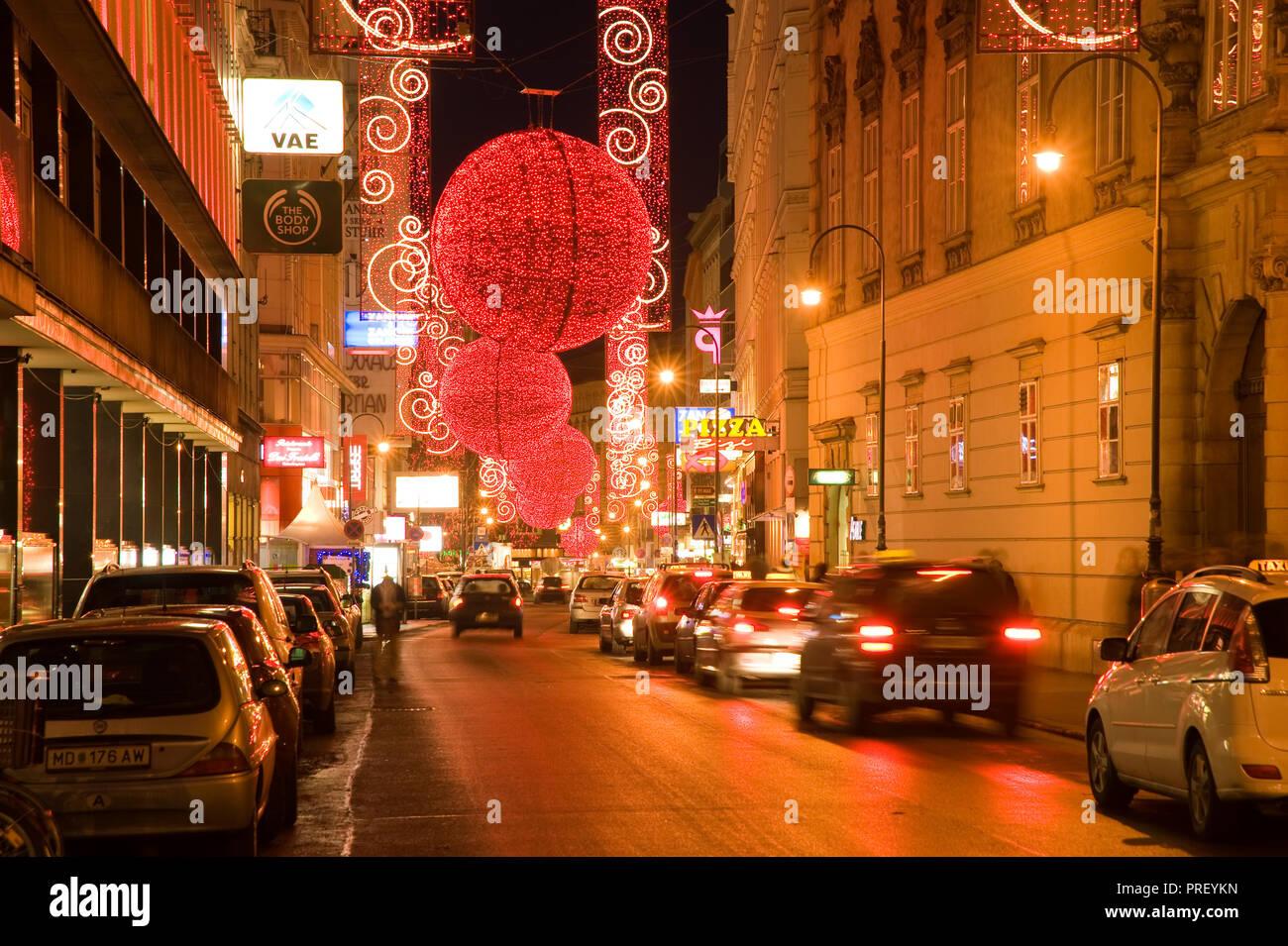 Wien Innenstadt Rotenturmstraße Weihnachtsschmuck Vienna