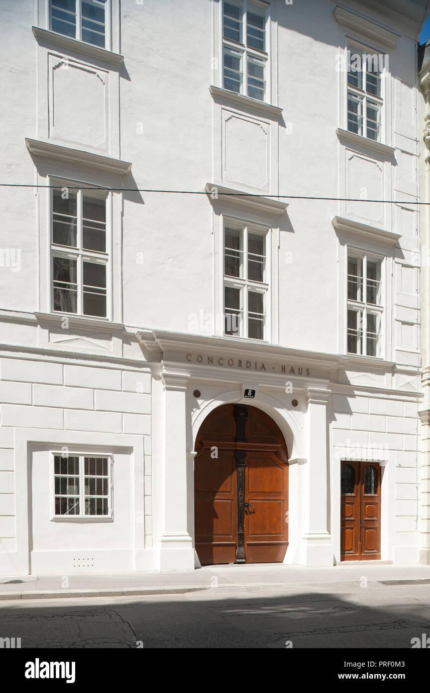 Wien Bankgasse Concordia Haus Fassade Stock Photo 220991347 Alamy