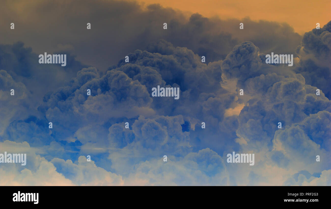 Abstract cumulonimbus clouds background - Stock Image