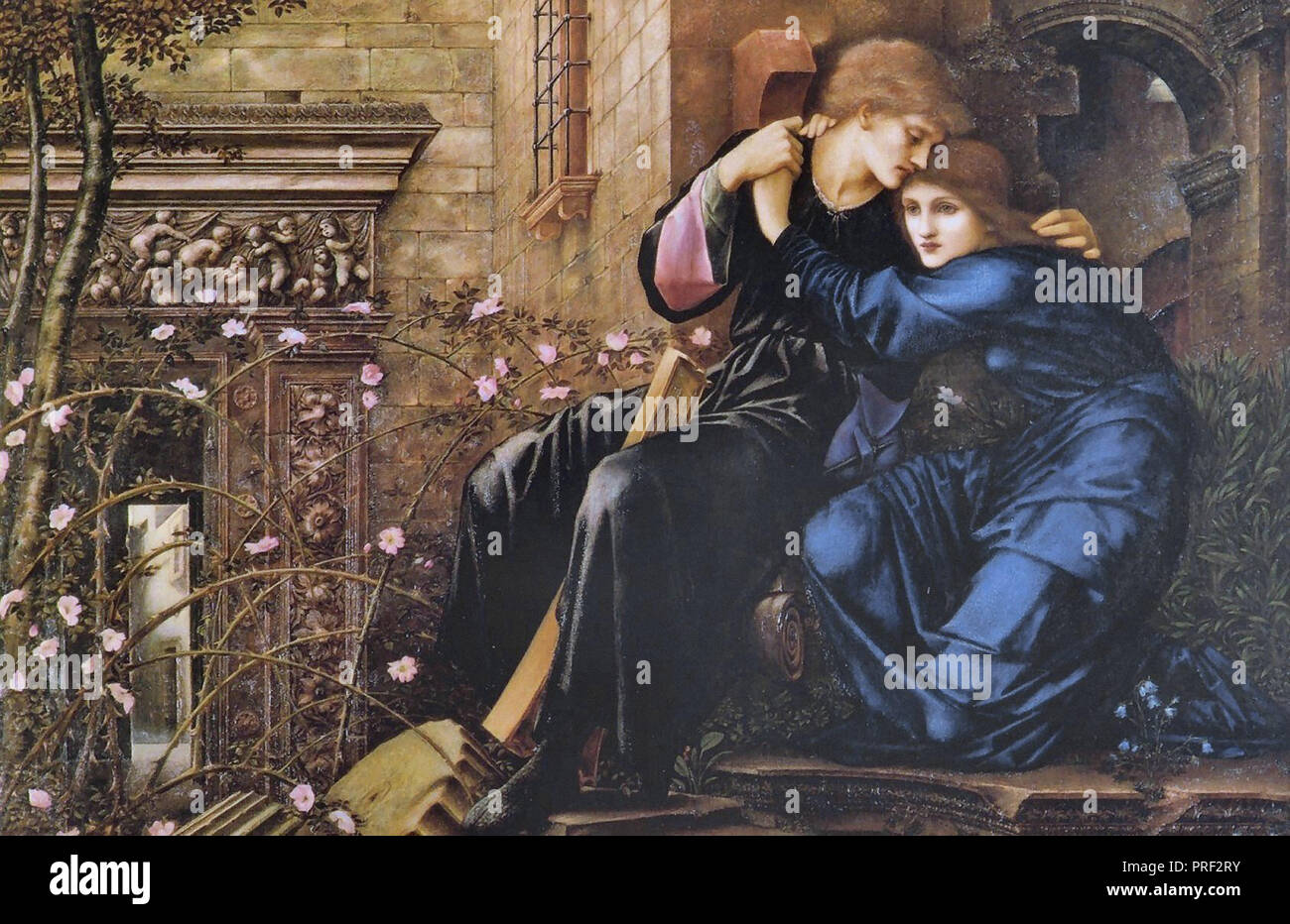Burne-Jones  Edward Coley - Love Among the Ruins 1 - Stock Image