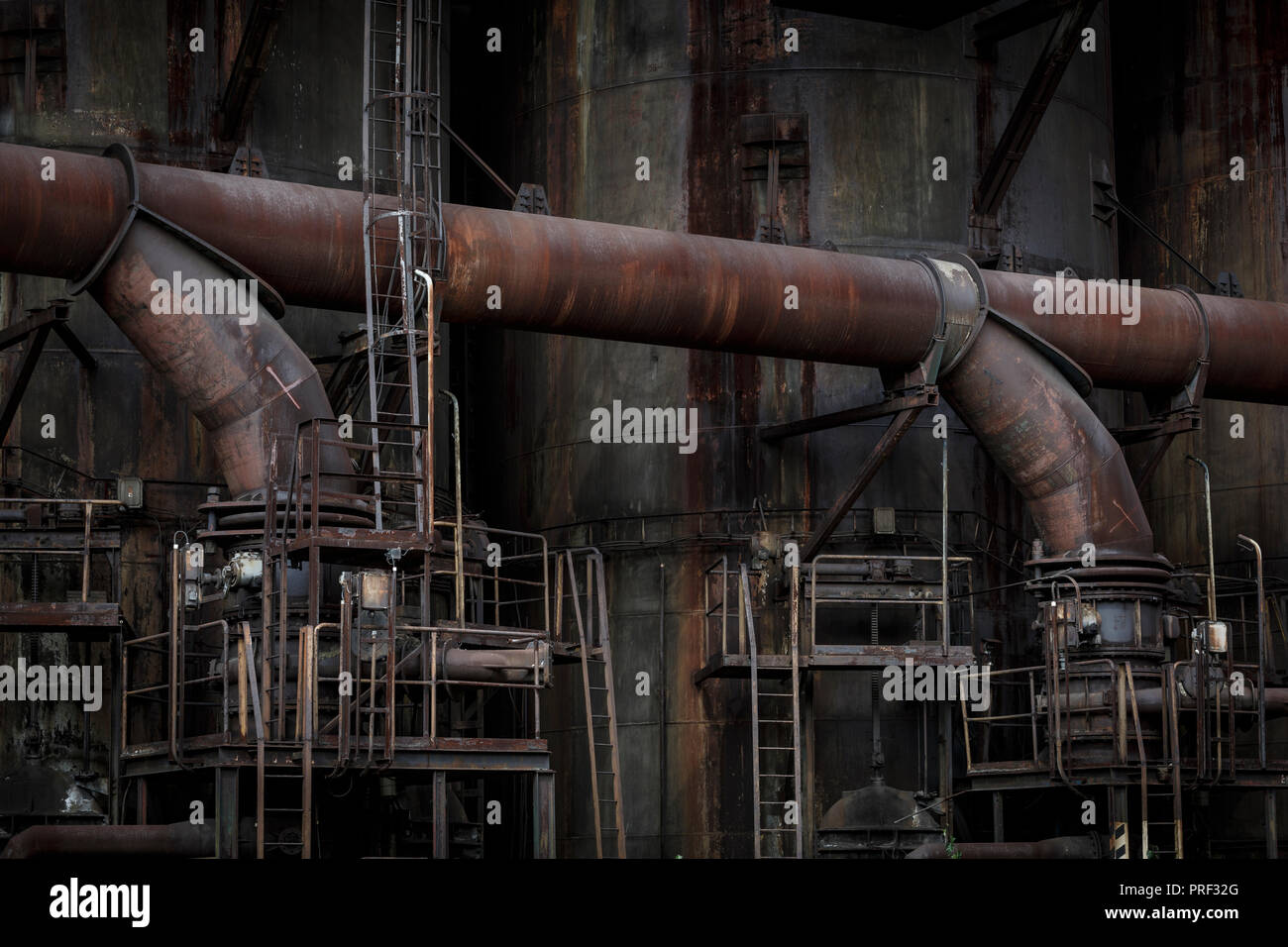Ostrava, Czech Republic - August 21, 2018: Blast furnace in Lower Vitkovice, a national site of industrial heritage consisting of a unique collection  - Stock Image