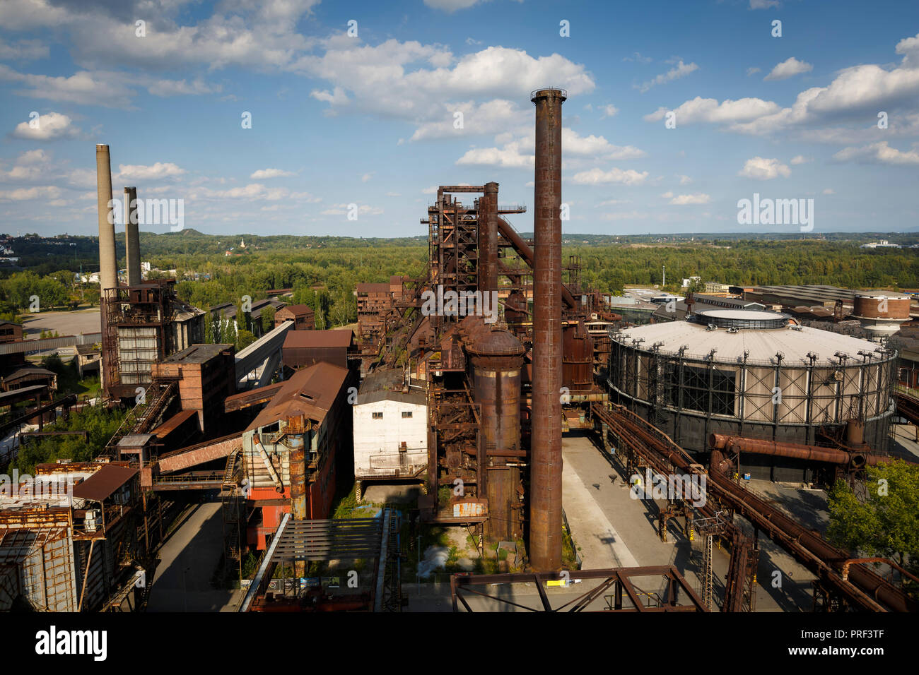 Ostrava, Czech Republic - August 21, 2018: View of Lower Vitkovice, a national site of industrial heritage consisting of a unique collection of indust - Stock Image
