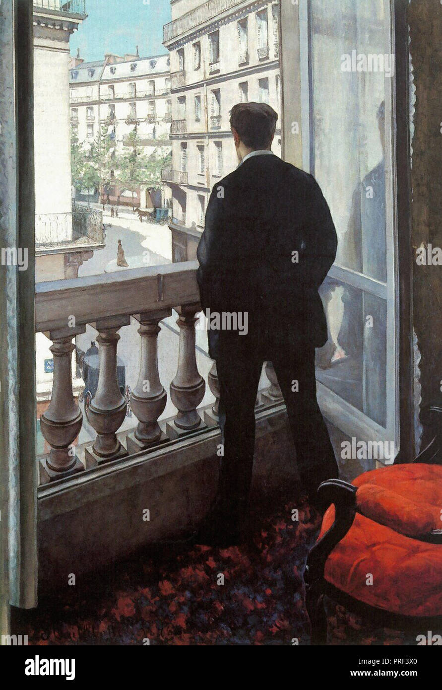 Caillebotte  Gustave - a Young Man at His Window - Stock Image