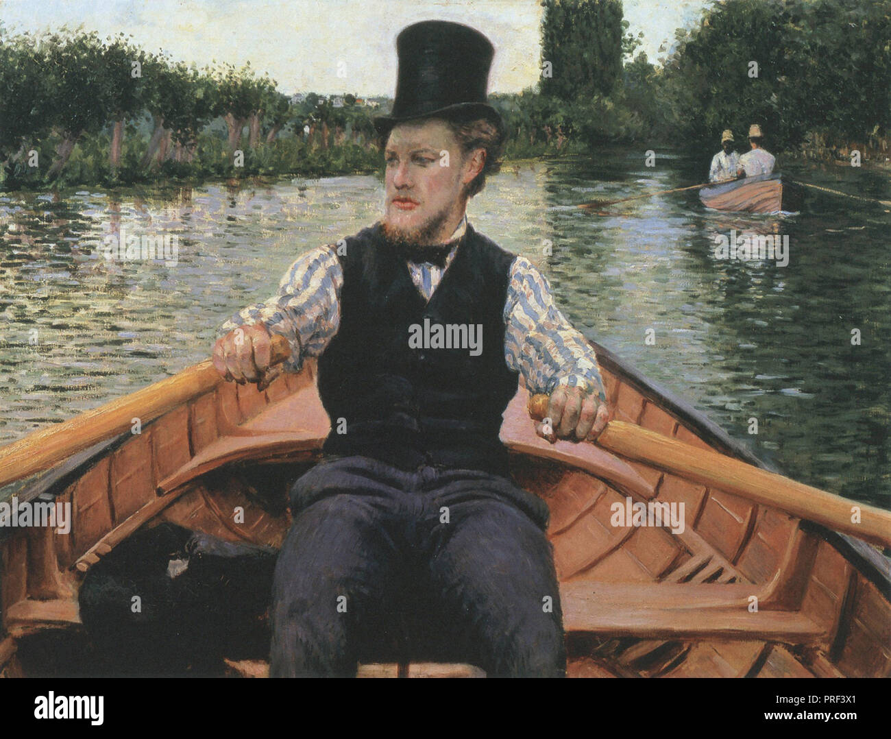 Caillebotte  Gustave - Boating Party - Stock Image