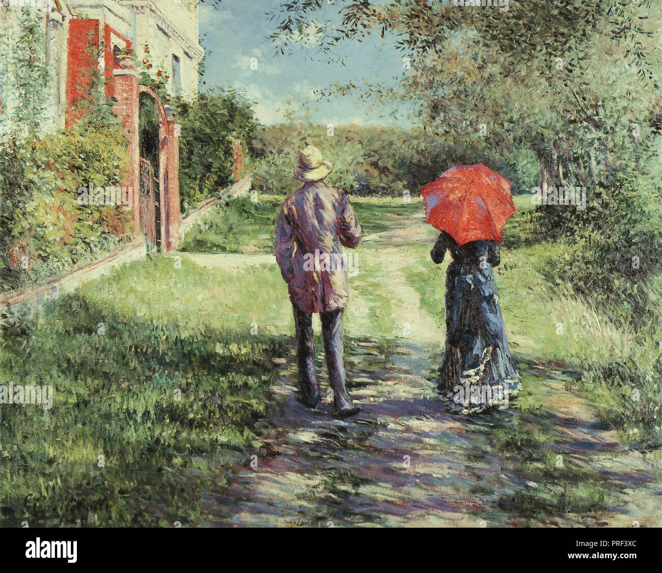 Caillebotte  Gustave - Chemin Montant - Stock Image