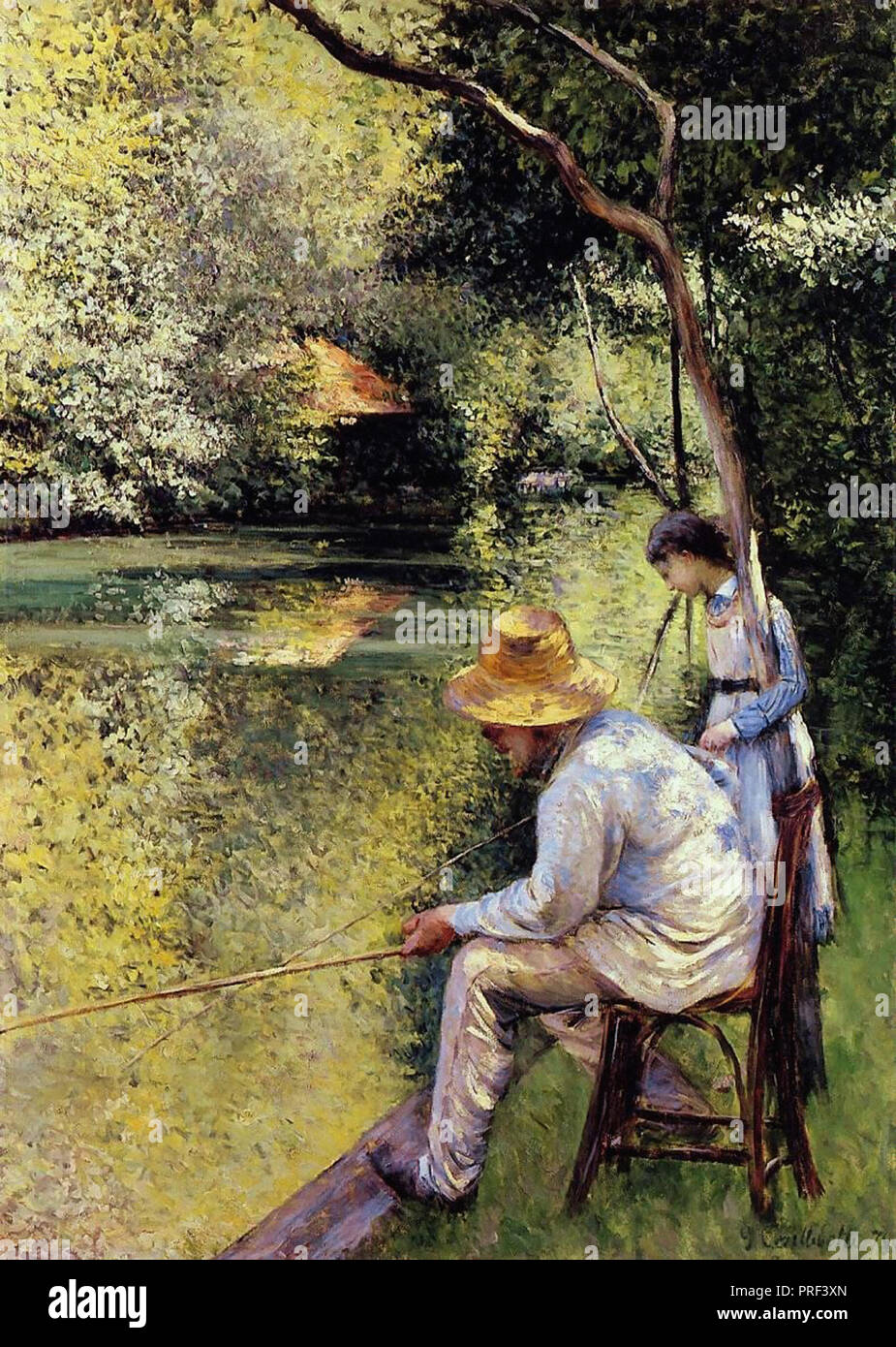 Caillebotte  Gustave - Fishing - Stock Image