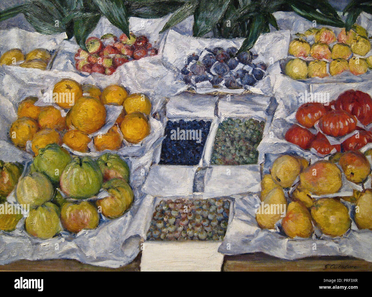 Caillebotte  Gustave - Fruit Displayed on a Stand - Stock Image
