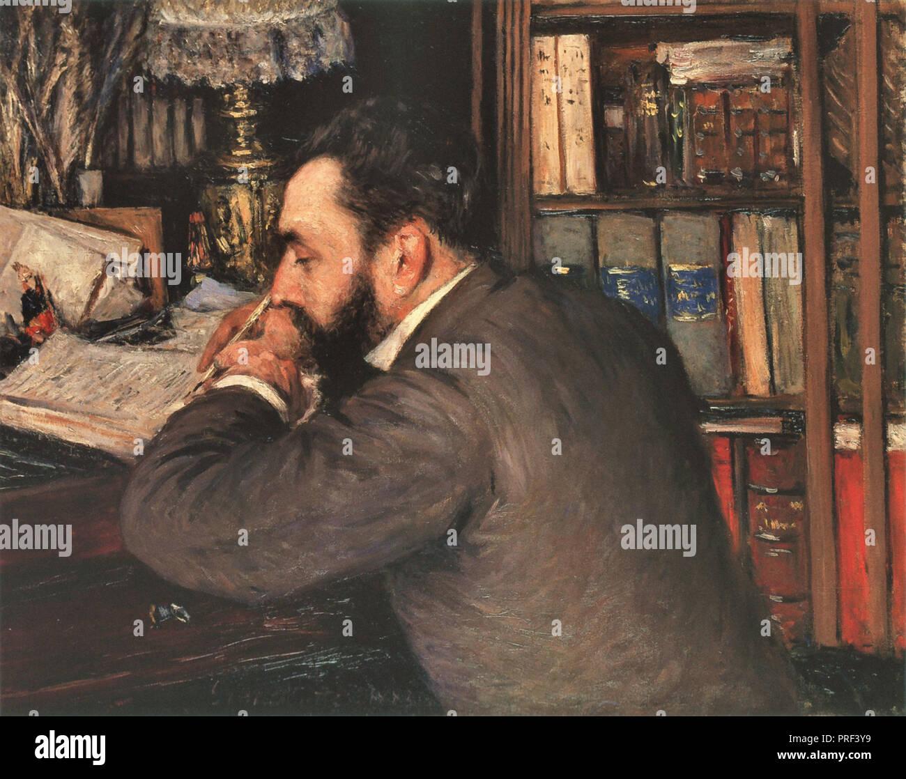 Caillebotte  Gustave - Portrait D 'henri Cordier - Stock Image