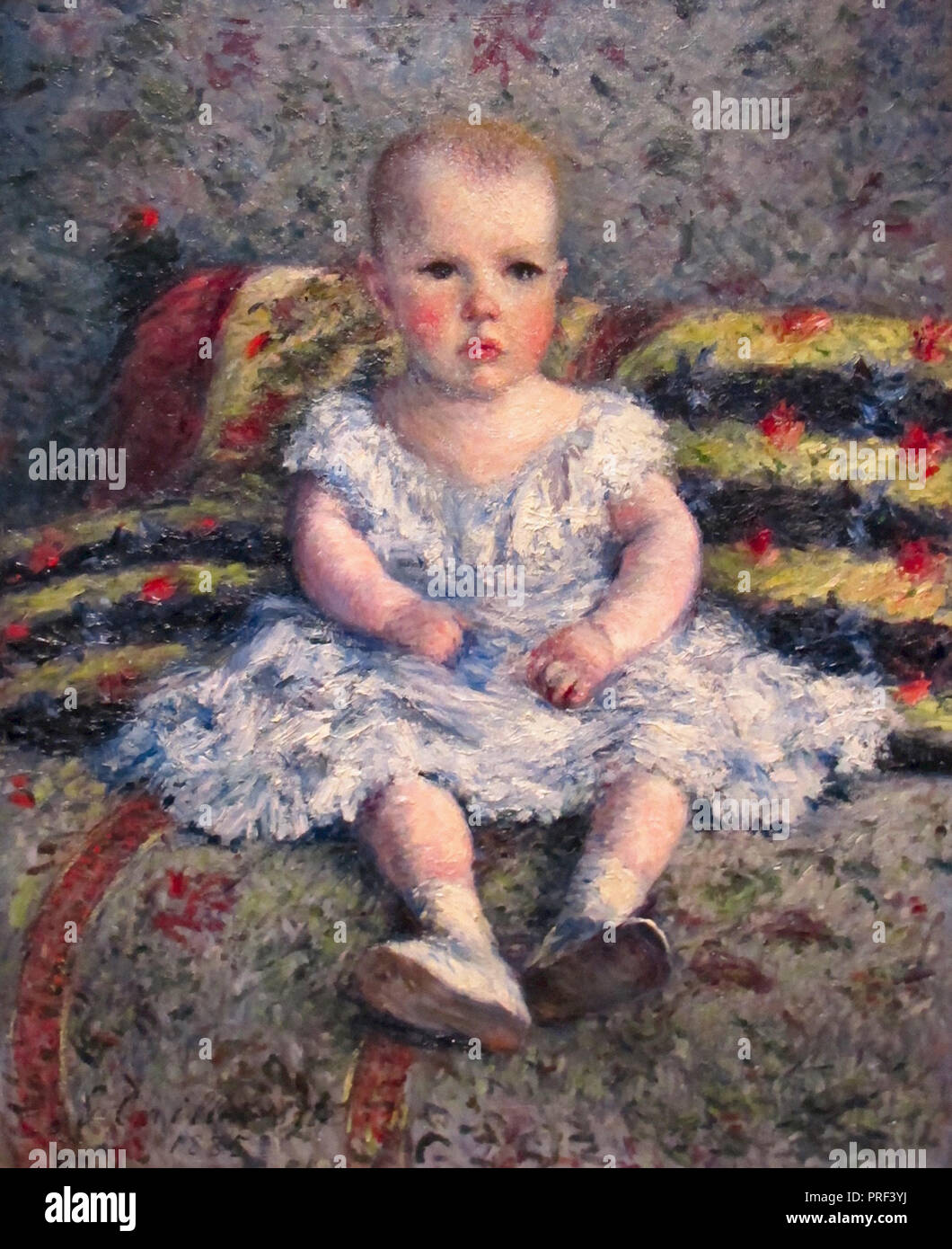 Caillebotte  Gustave - Portrait De Maurice Hugot  Enfant - Stock Image