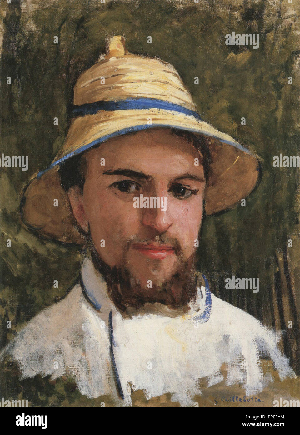 Caillebotte  Gustave - Self Portrait 3 (with Sun Hat) - Stock Image