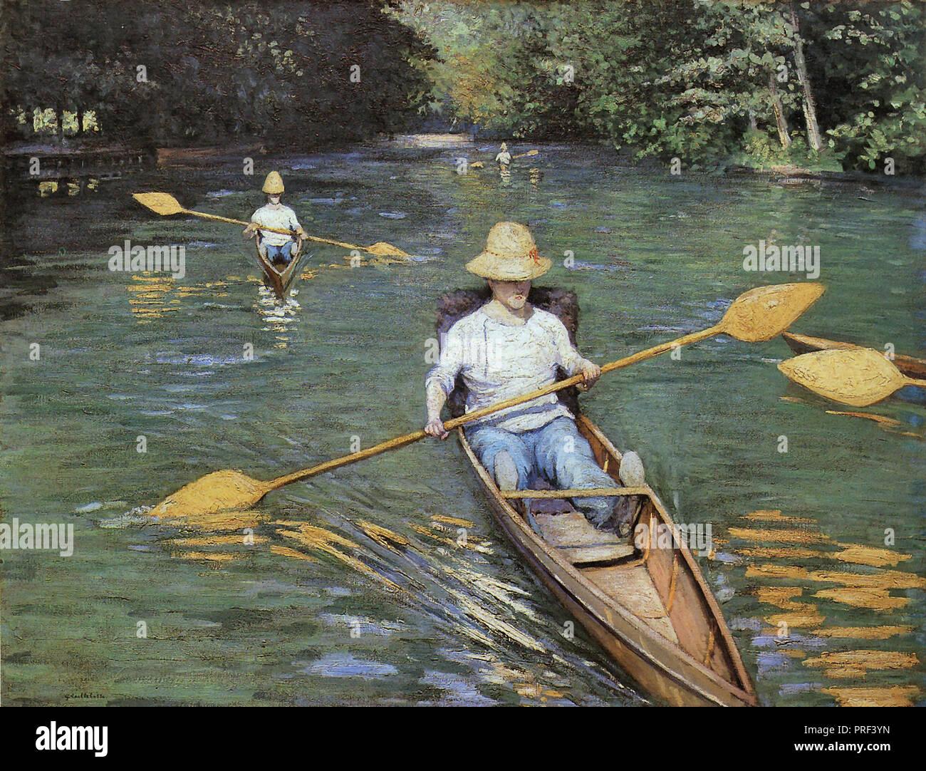 Caillebotte  Gustave - Skiffs - Stock Image