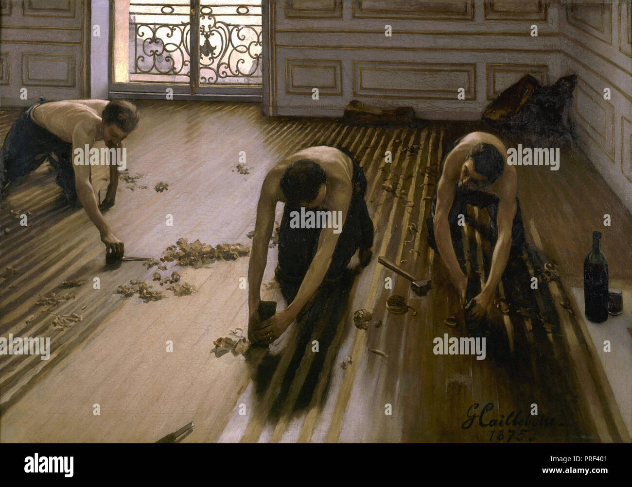 Caillebotte  Gustave - the Floor Scrapers 2 - Stock Image