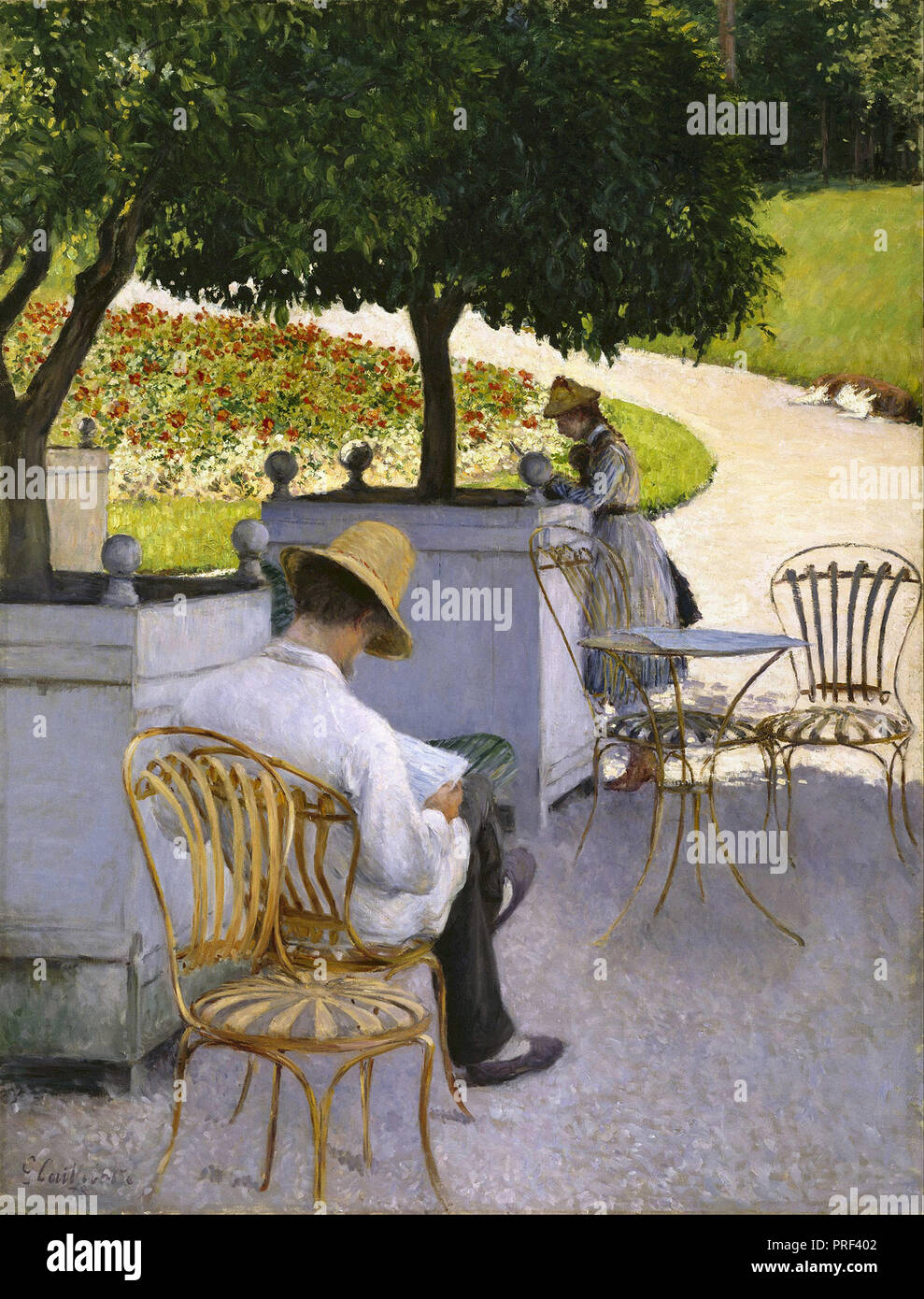 Caillebotte  Gustave - the Orange Trees - Stock Image