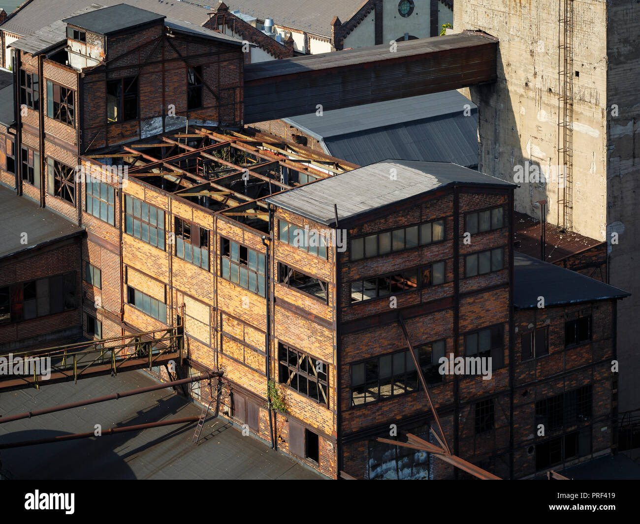 Ostrava, Czech Republic - August 21, 2018: Buildings of coke oven in Lower Vitkovice, a national site of industrial heritage consisting of a unique co - Stock Image
