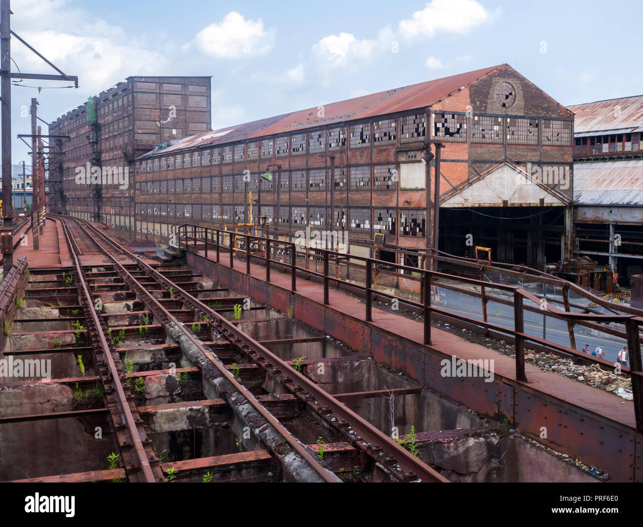 Abandoned rusting remains of Bethlehem Steel Plant in Bethlehem Pennsylvanis, United States - Stock Image