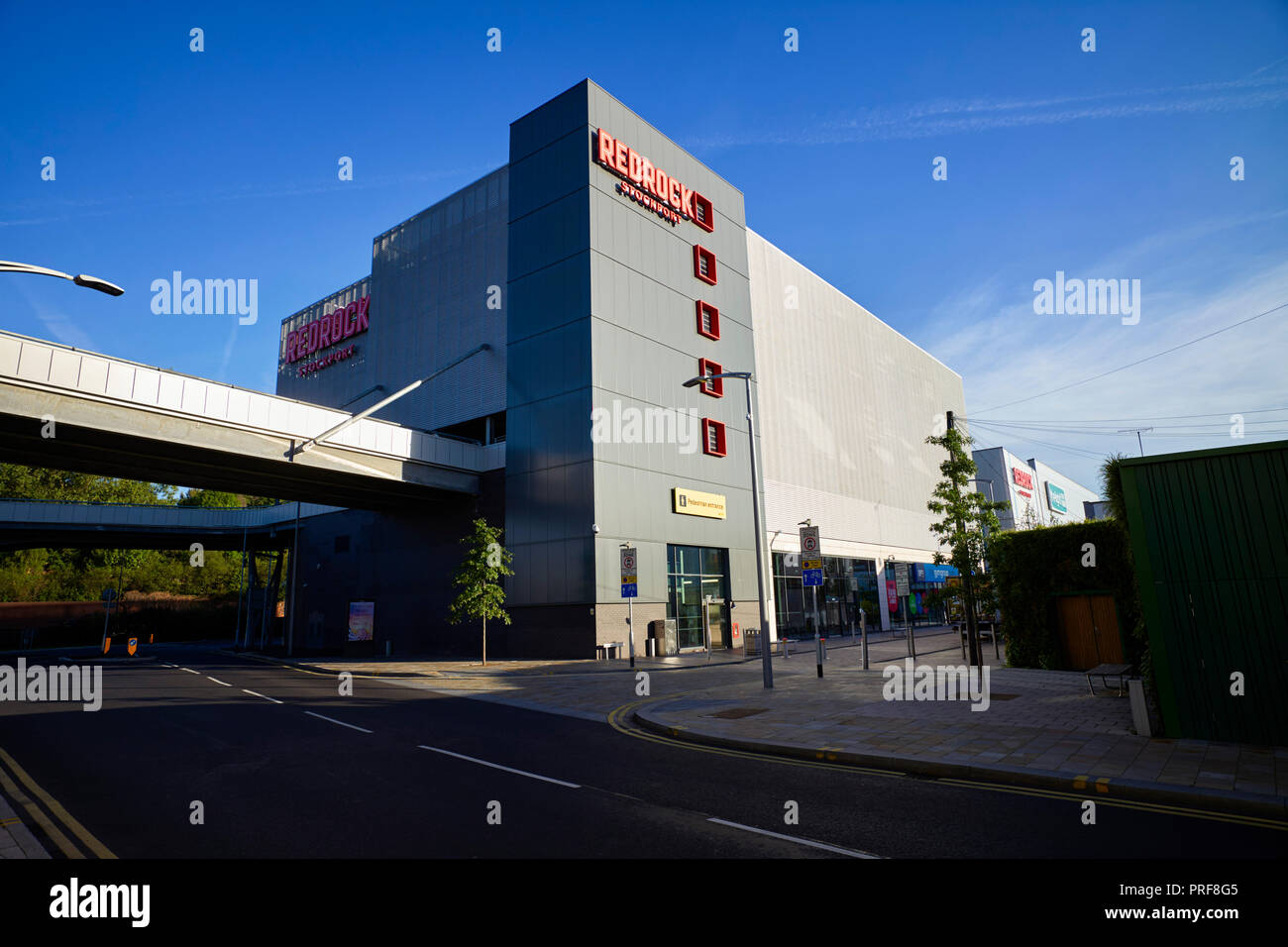 Exterior of Redrock Stockport that won carbuncle of the year in 2018 - Stock Image