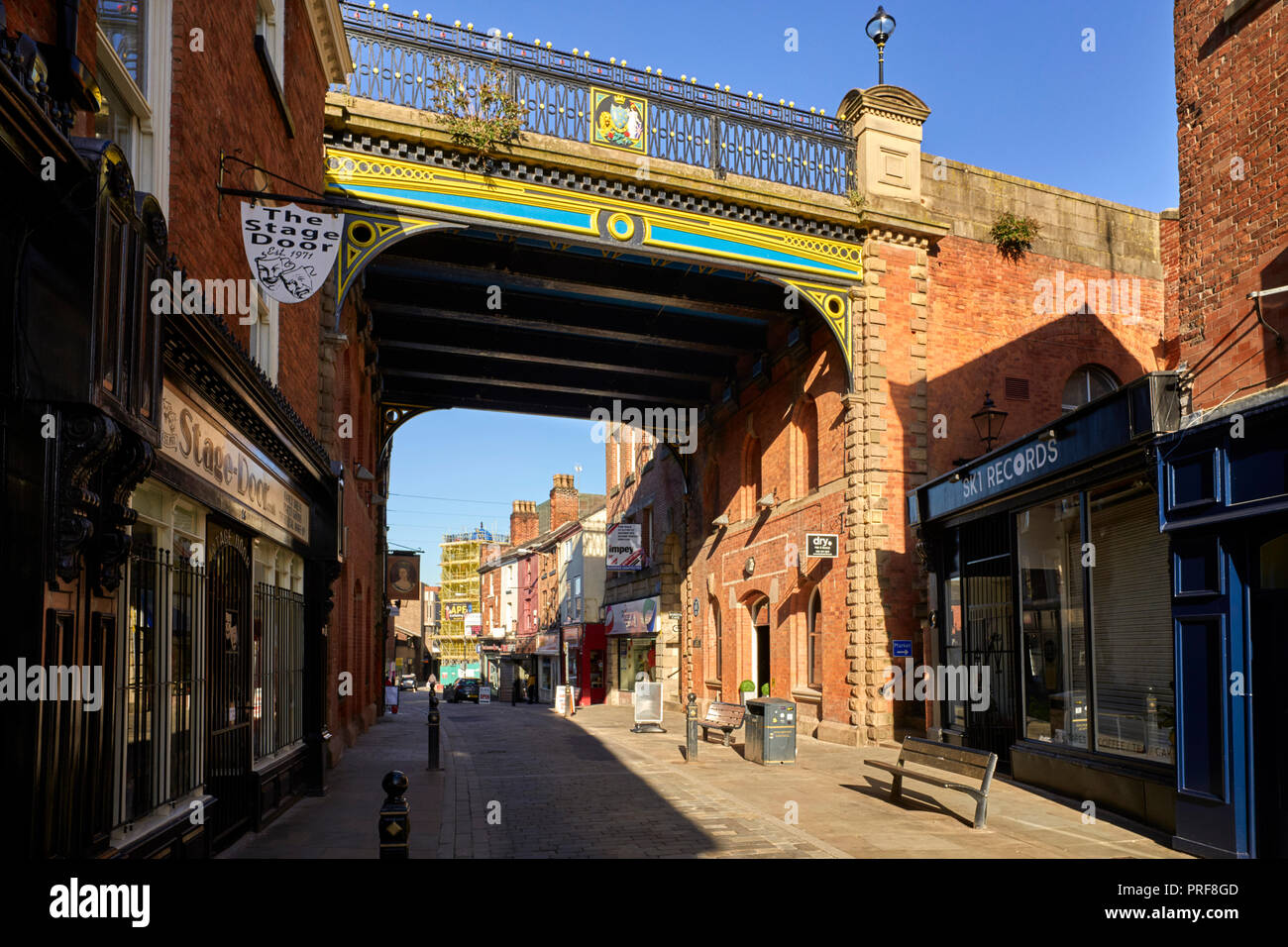 The Underbank and bridge over in Stockport near Manchester - Stock Image
