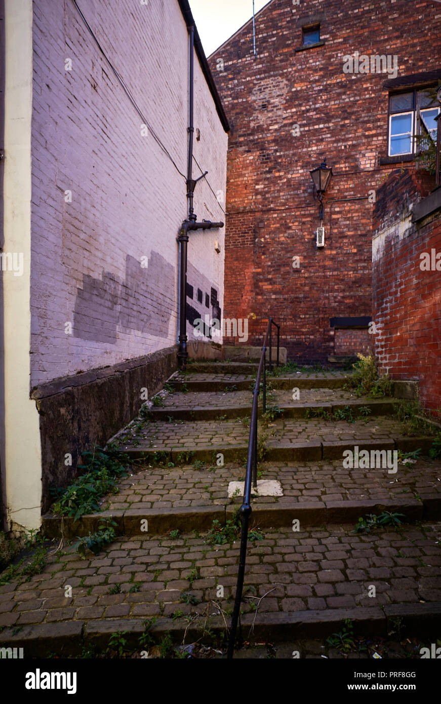 Steps at Coopers Brow in Stockport near Manchester - Stock Image