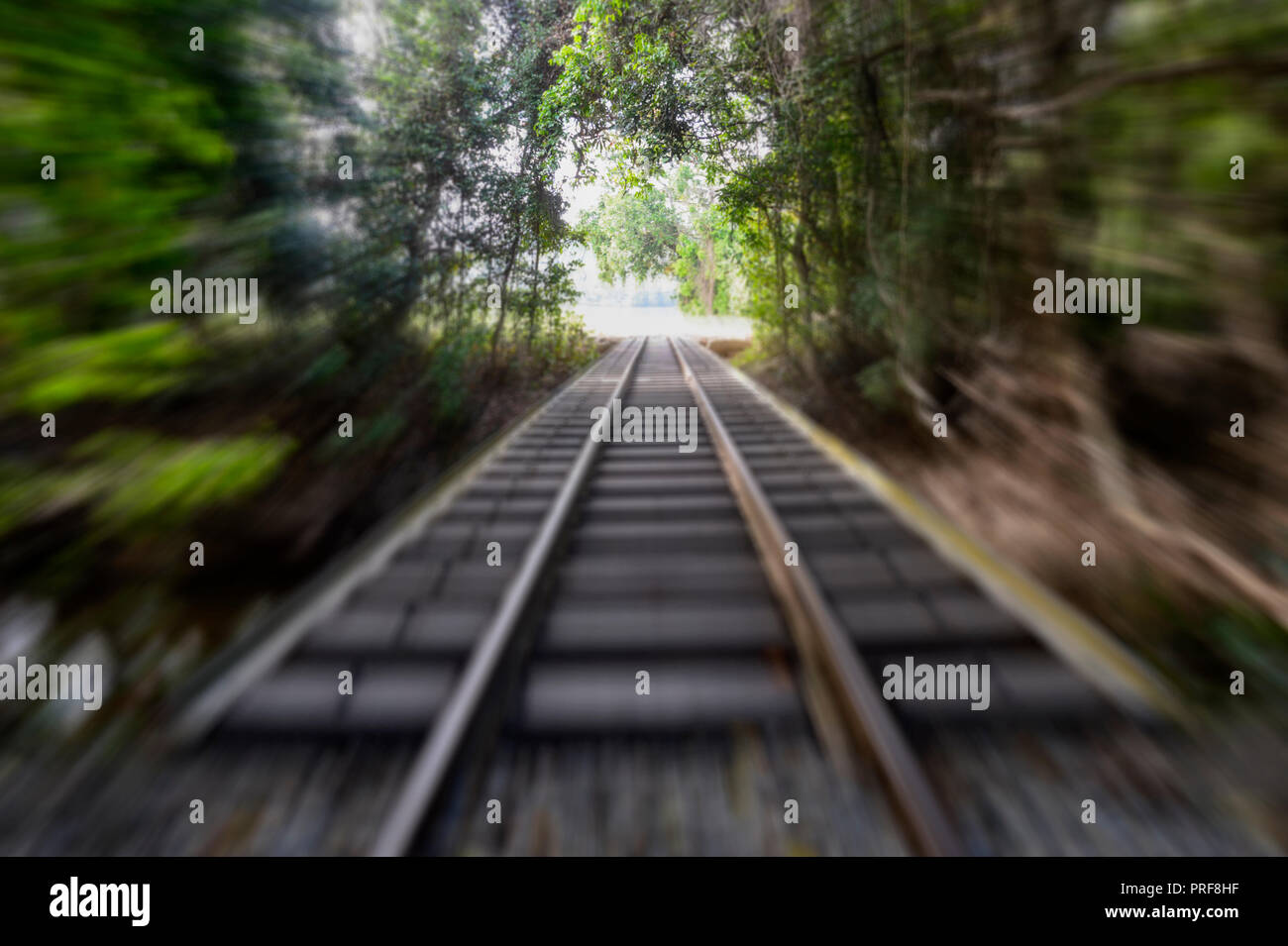 Seeing the light at the end of the tunnel concept - Stock Image