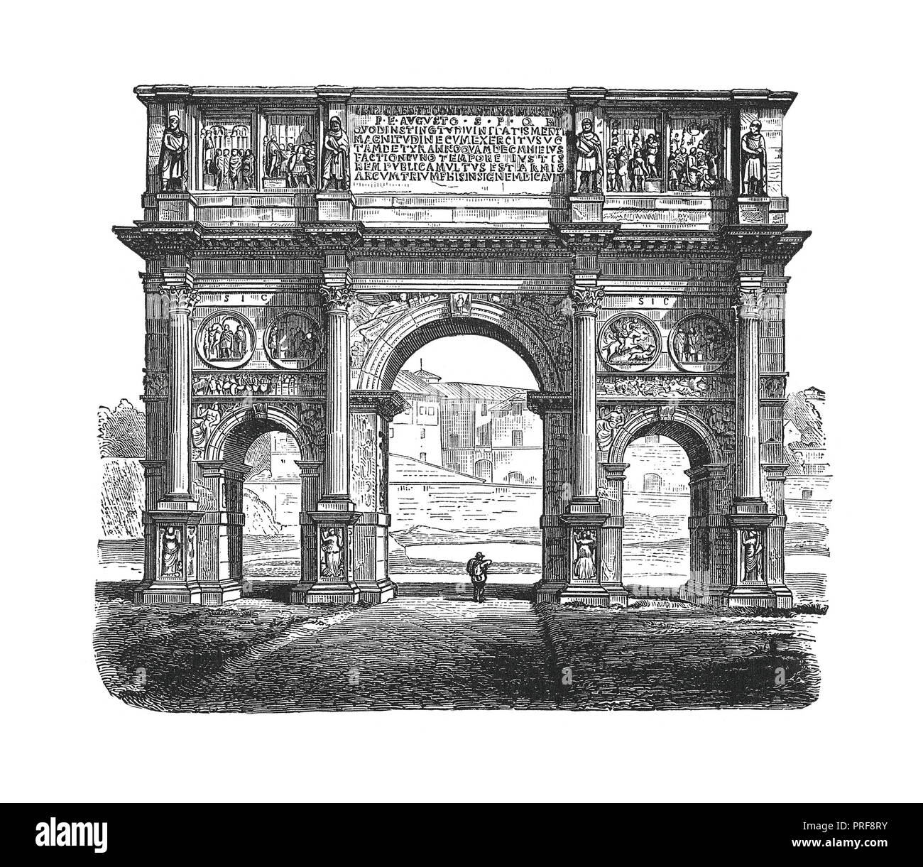 Original artwork of The arch of Constantine. Published in A pictorial history of the world's great nations: from the earliest dates to the present tim - Stock Image