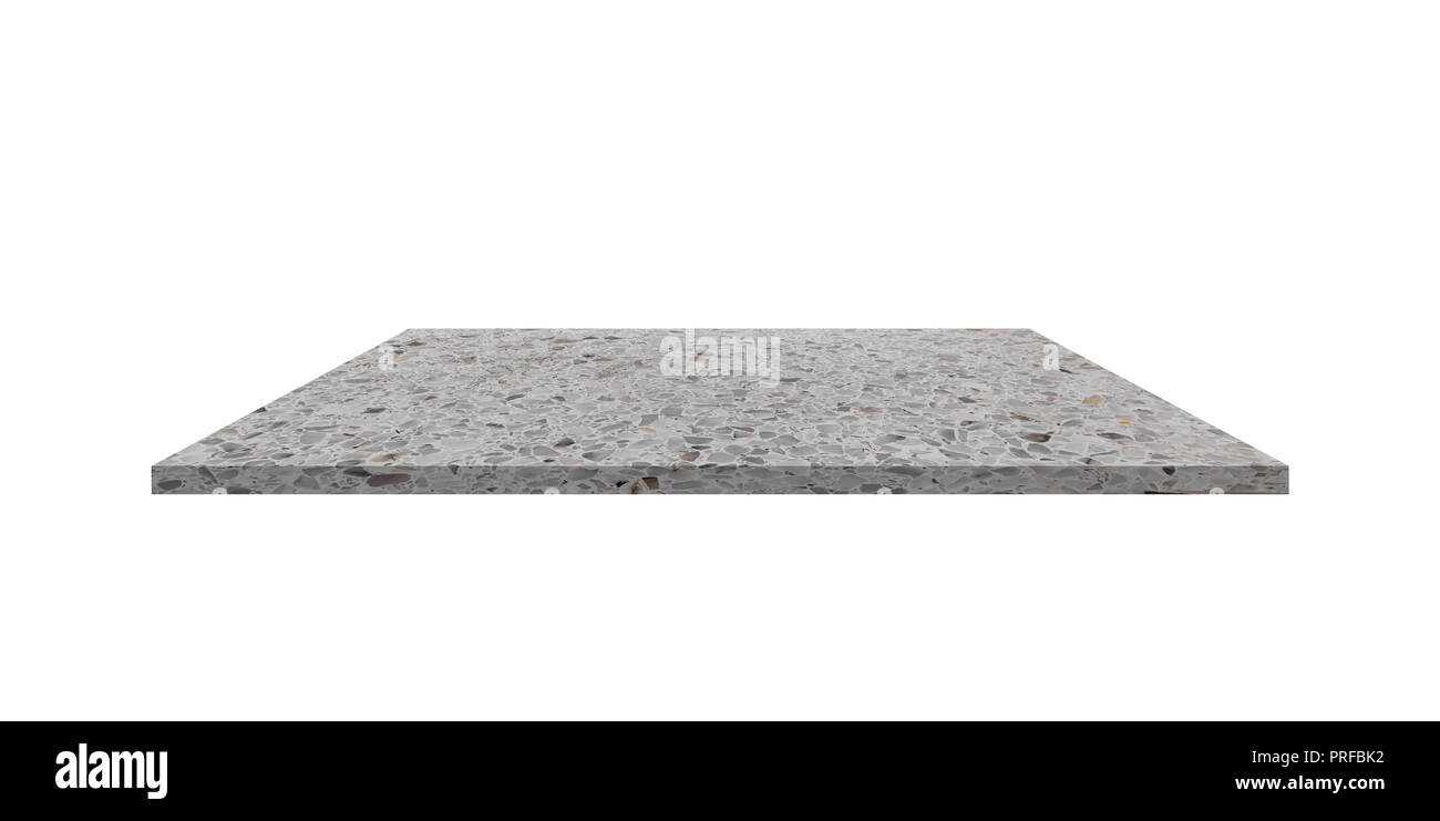 Shelf Terrazzo Floor Beautiful On White Background Stock