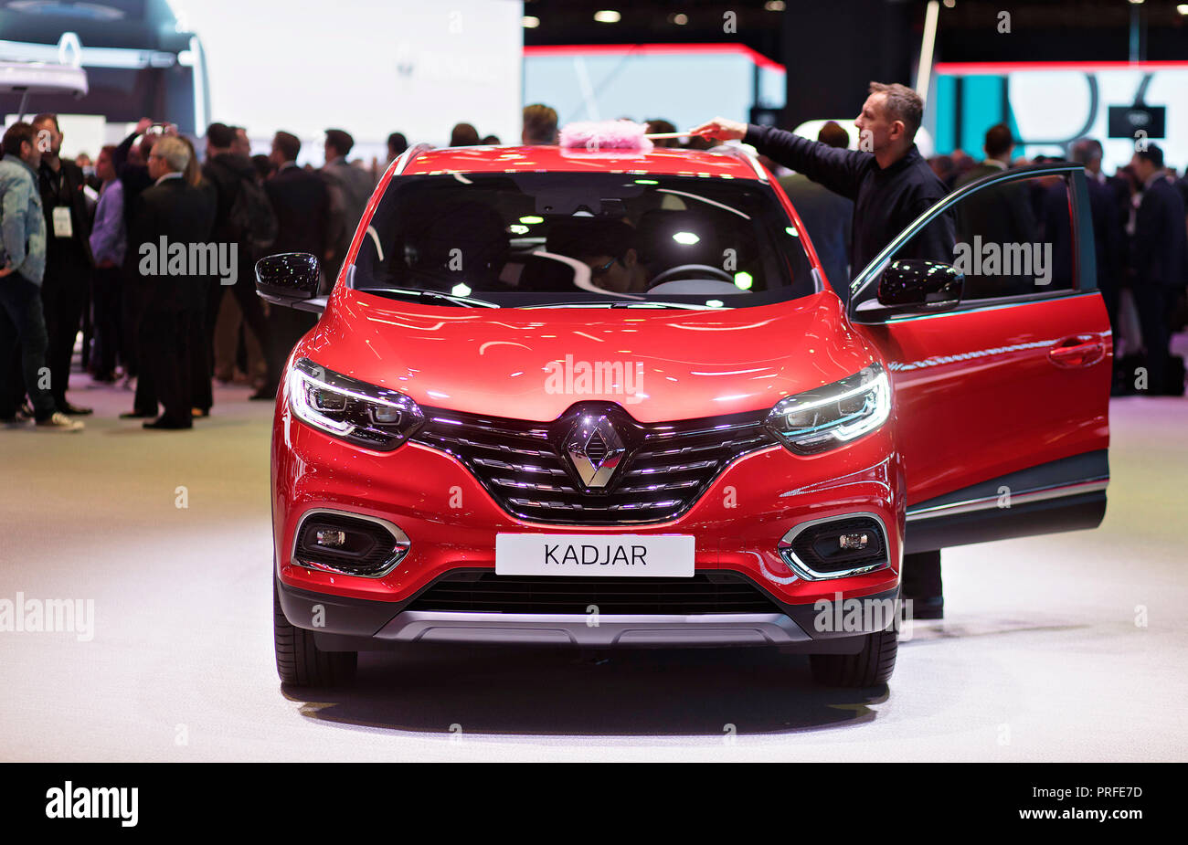 Renault Kadjar was unveiled during the first day of International Paris Motorshow on Tuesday 2nd, 2018 in Paris, France.  (CTK Photo/Petr Mlch) - Stock Image