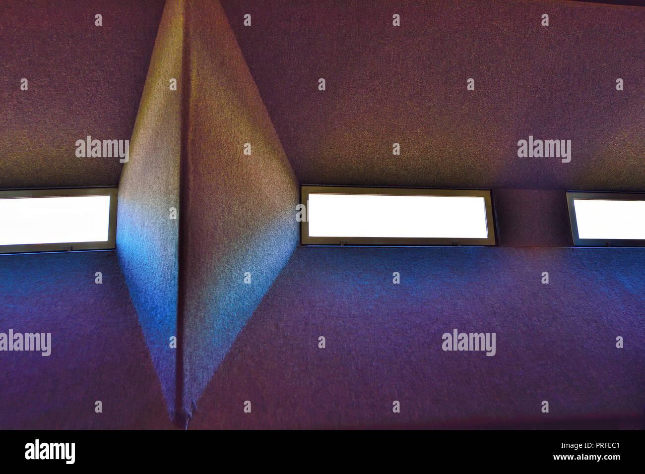 Alien Spacecraft Window - Stock Image