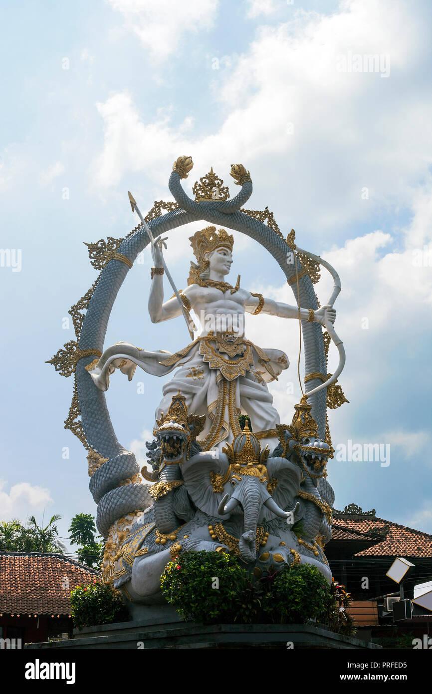 Statue of arjuna stock photos