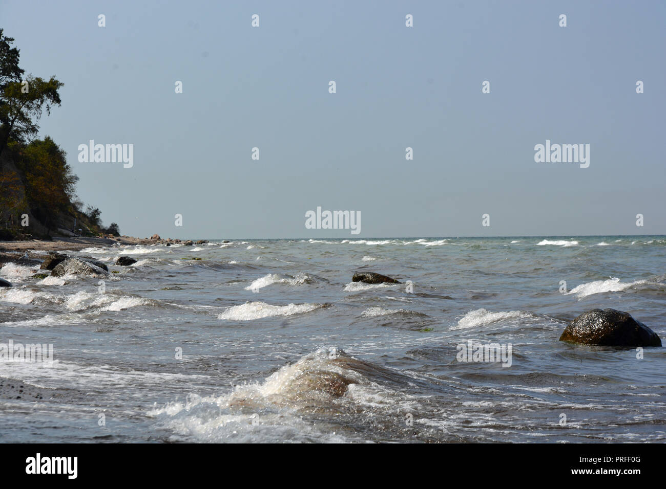 Sturm   Wellen    Meer   Himmel - Stock Image