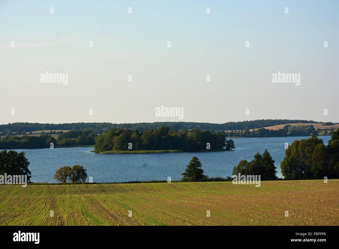 Wassen  See  Insel    Hintergrund - Stock Image