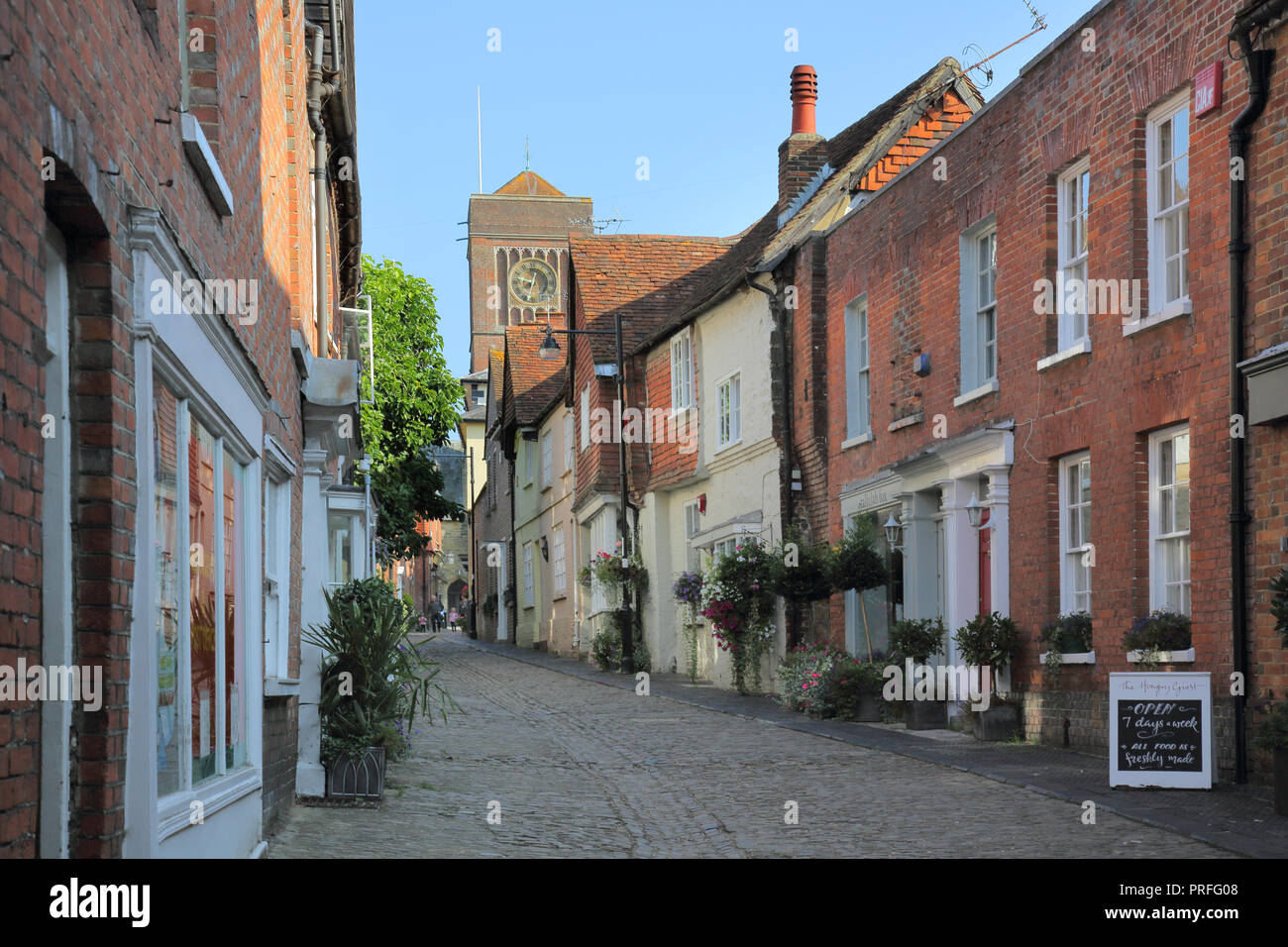 lombard street a cobbled lane in petworth west sussex - Stock Image