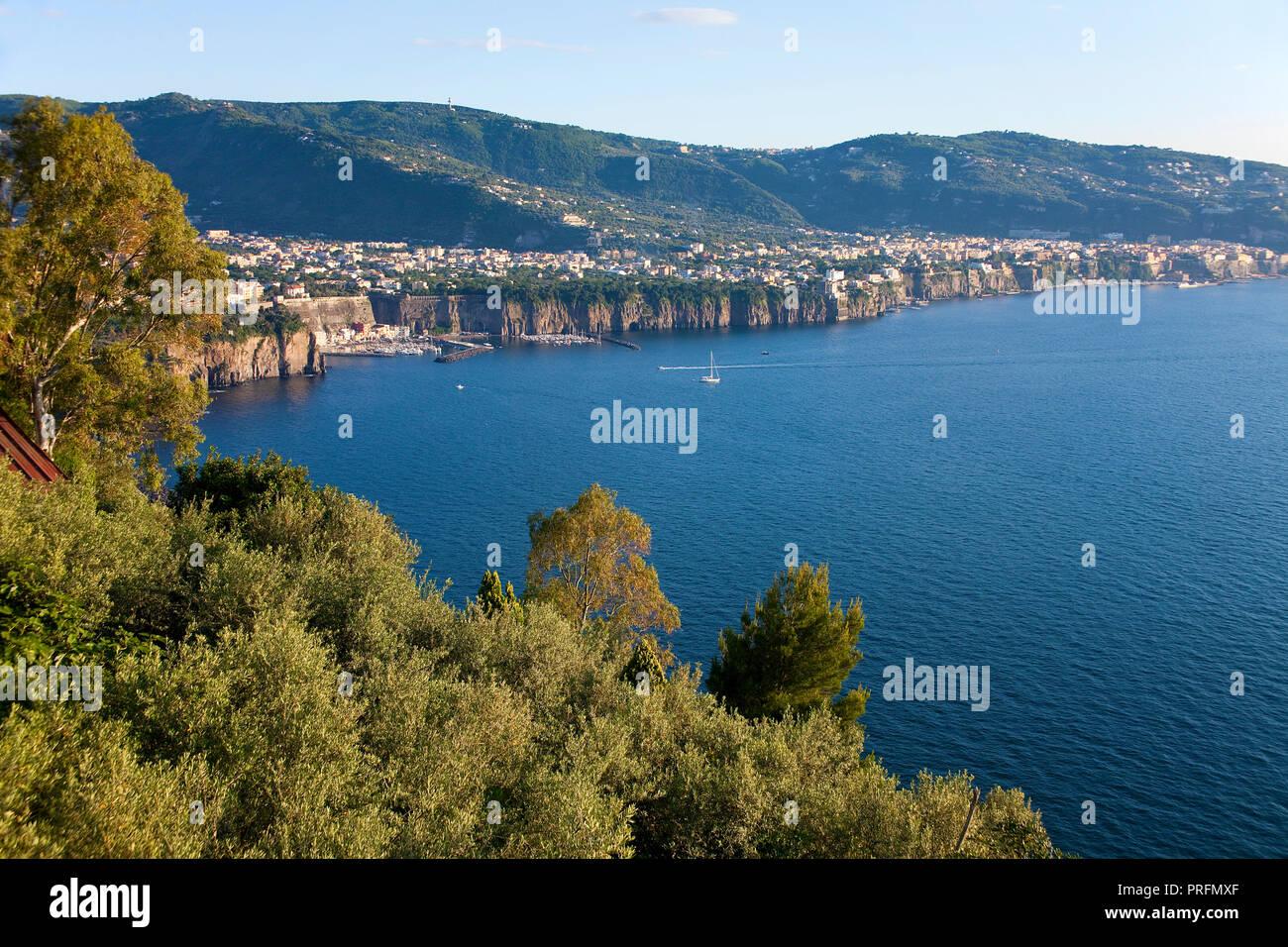 Peninsula of Sorrento, Gulf of Naples, Campania, Italy - Stock Image