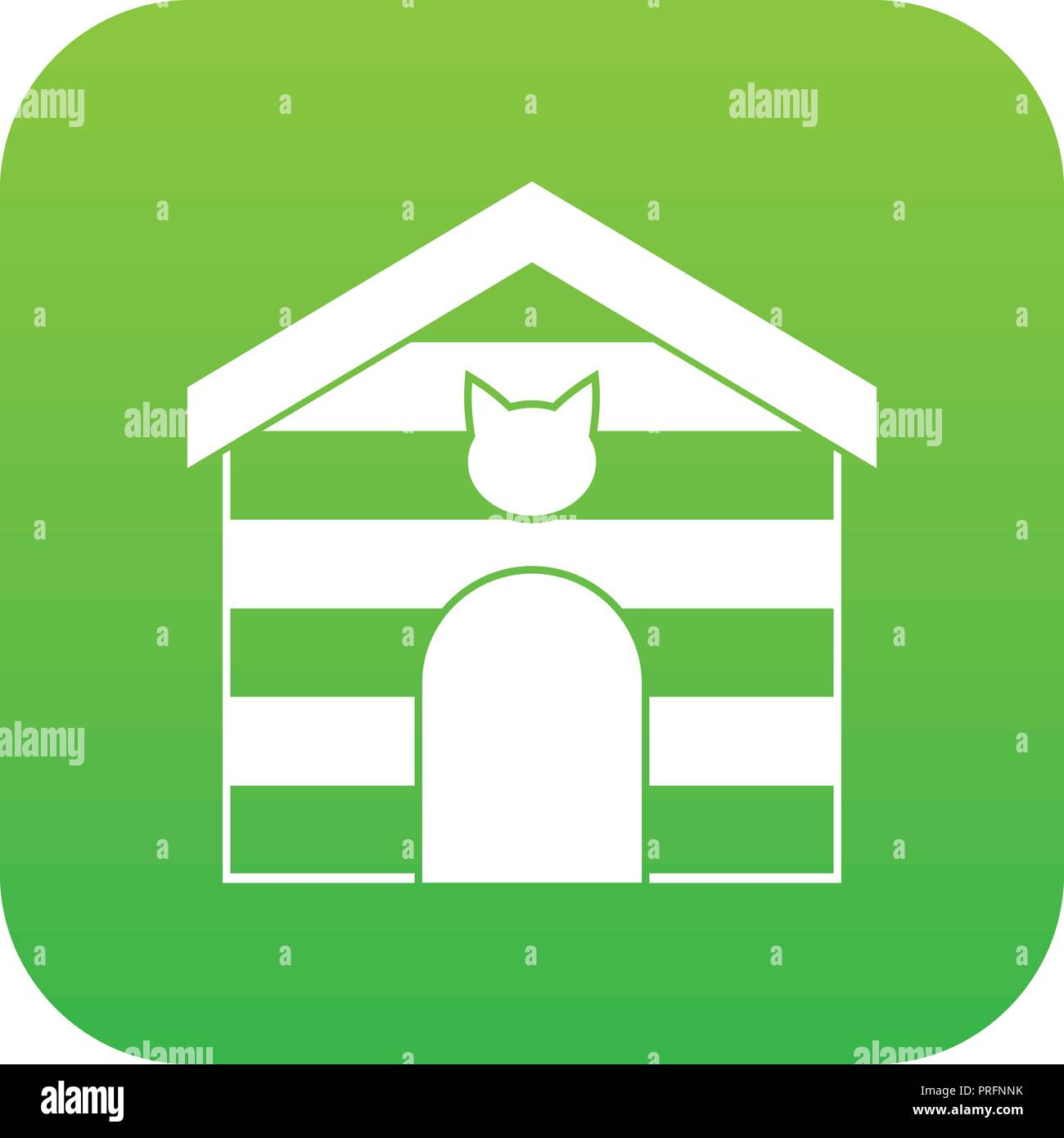 Cat House Icon Digital Green Stock Vector Art Illustration. Cat House Icon Digital Green. Wiring. Diagram Of A Cat House At Scoala.co
