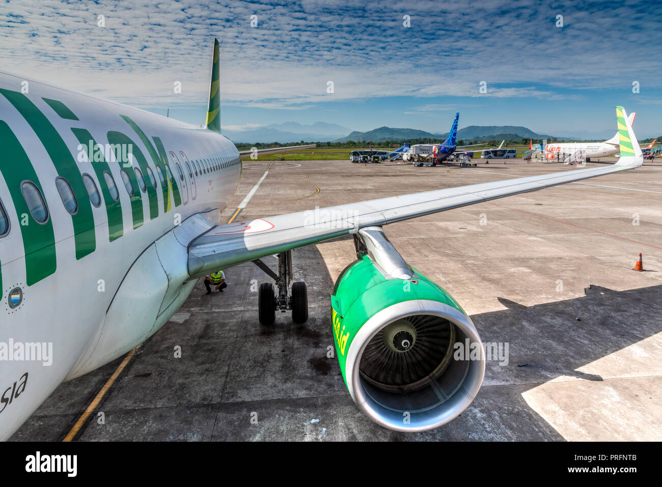Citilink Airbus A320, Makassar airport, Sulawesi, Indonesia - Stock Image