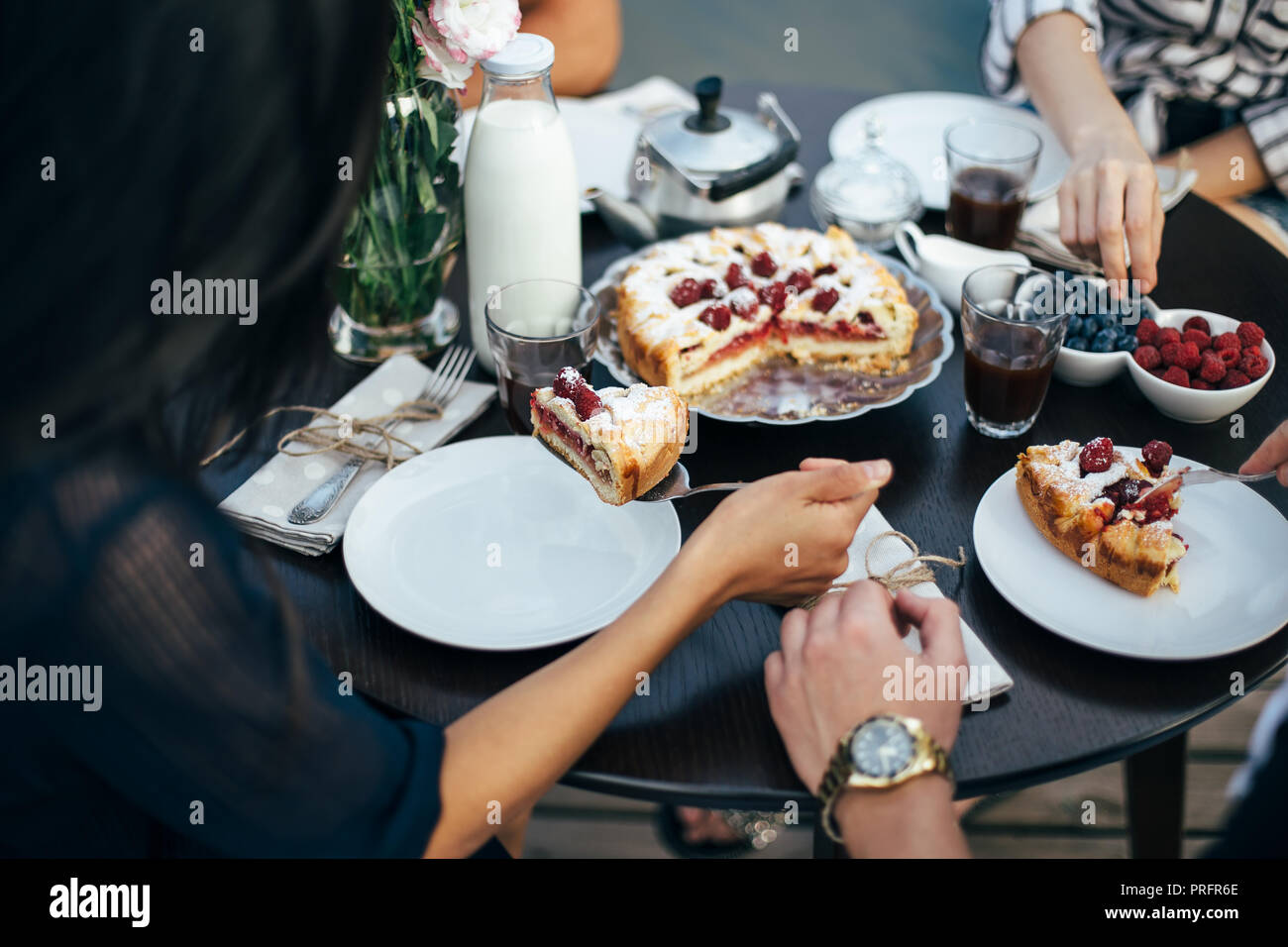 People Eating Pie Stock Photos & People Eating Pie Stock ...